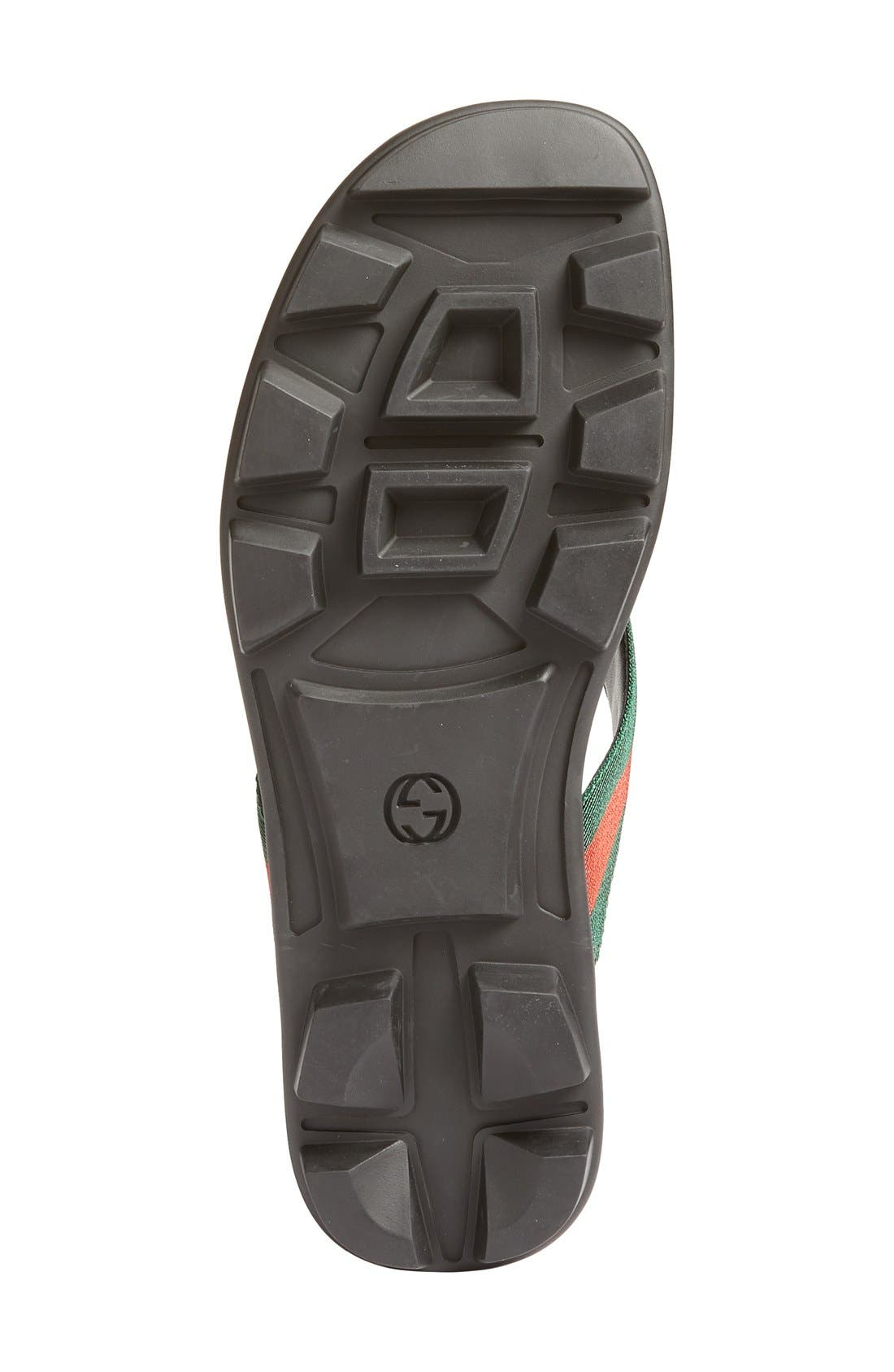 GUCCI, Titan Flip Flop, Alternate thumbnail 7, color, NERO LEATHER