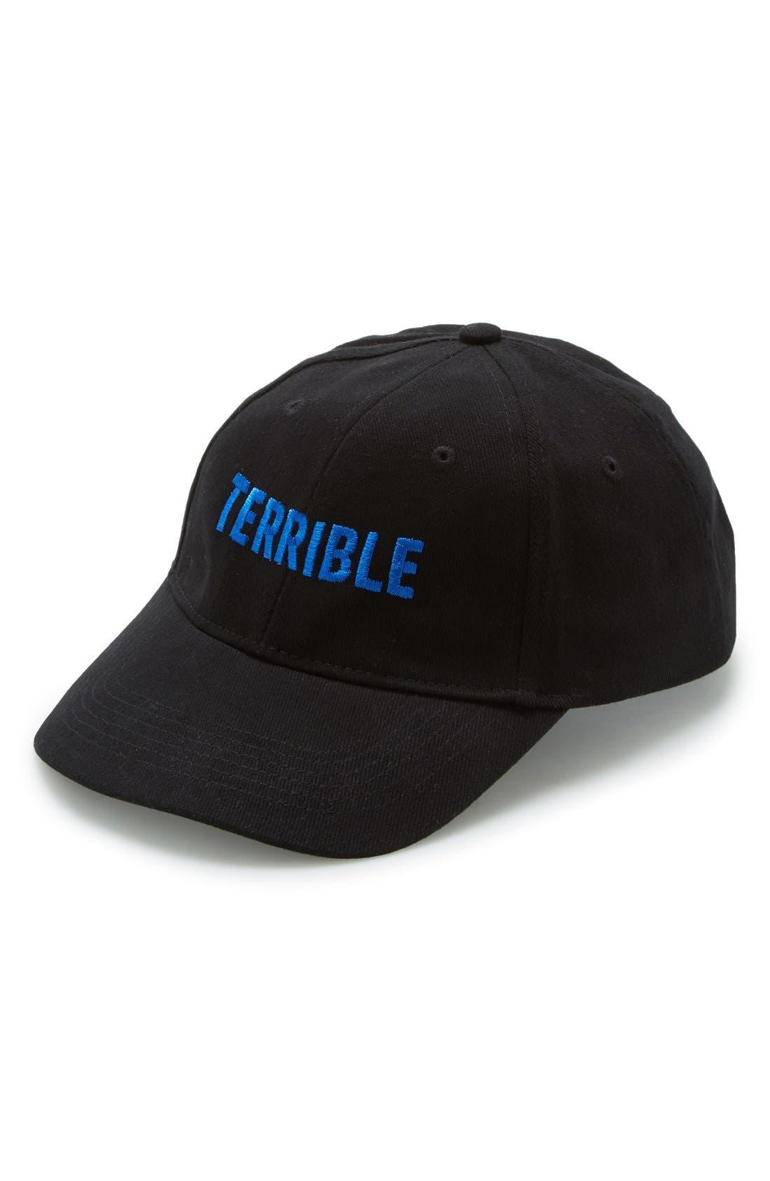 TERRIBLE RECORDS, 'Terrible' Snapback Cap, Main thumbnail 1, color, 400