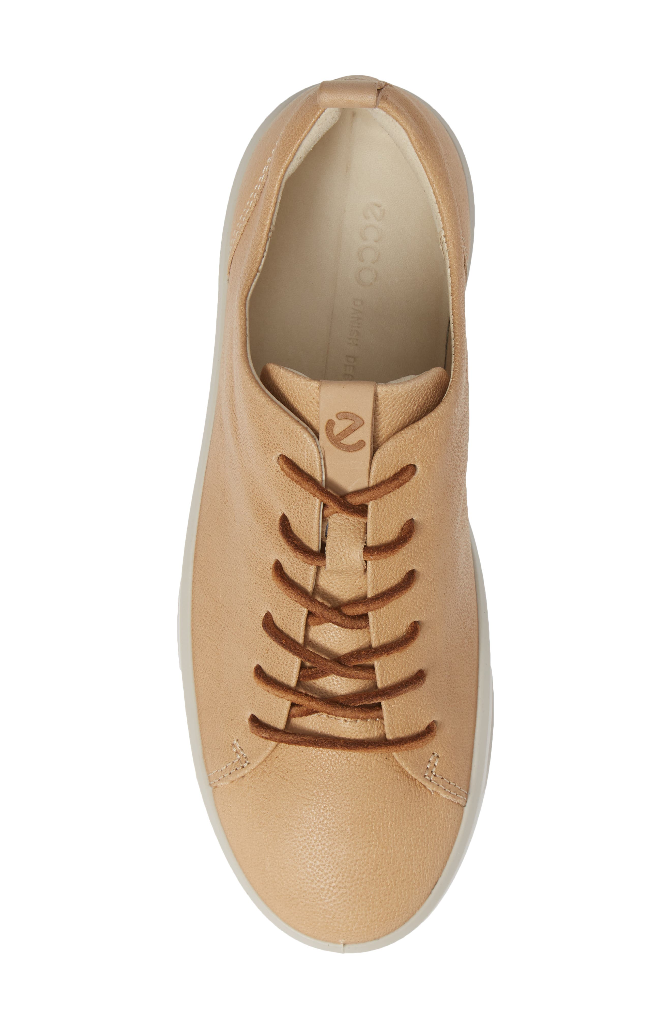 ECCO, Soft 8 Sneaker, Alternate thumbnail 5, color, POWDER LEATHER