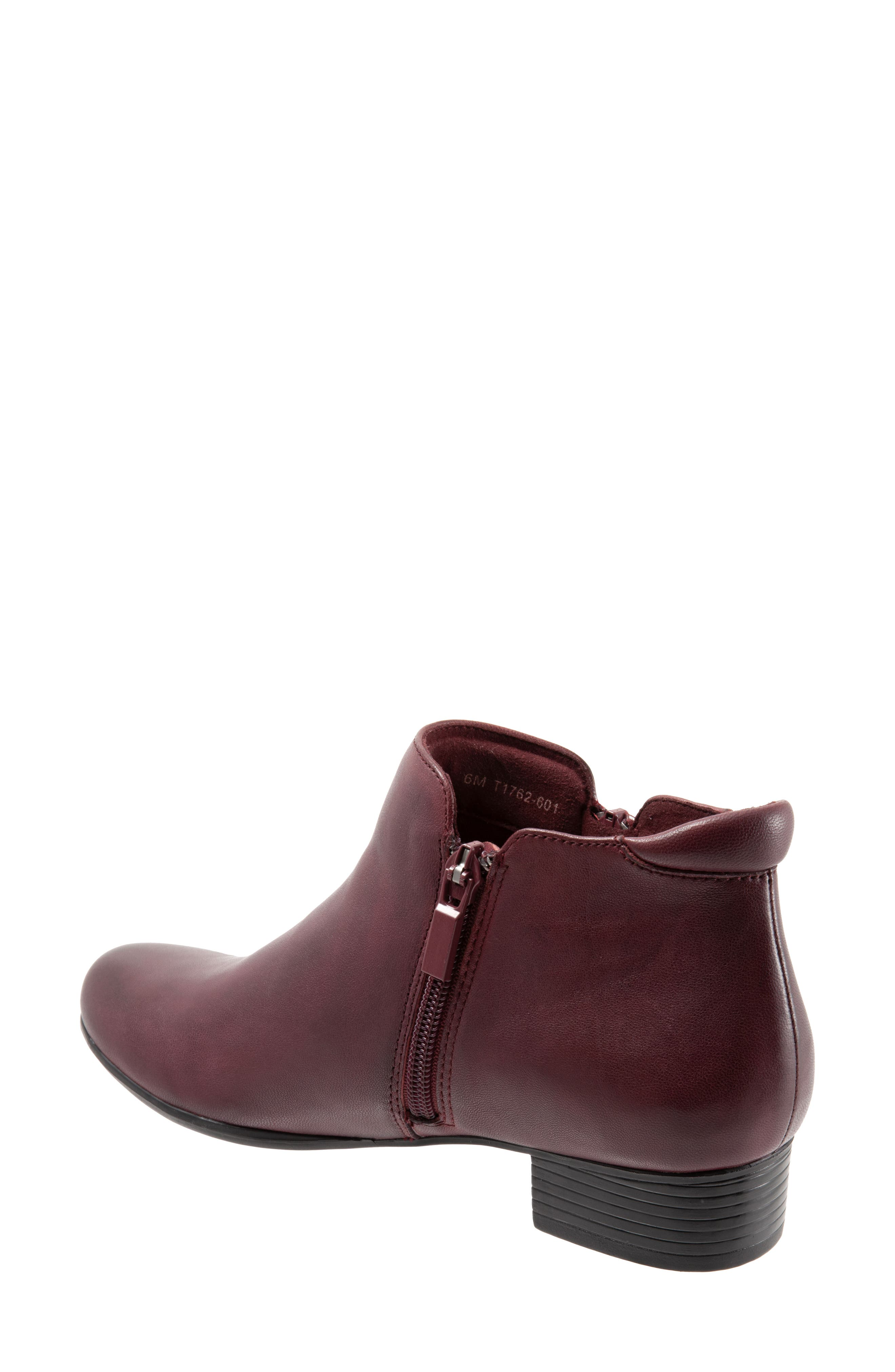 TROTTERS, Major Bootie, Alternate thumbnail 2, color, DARK RED LEATHER