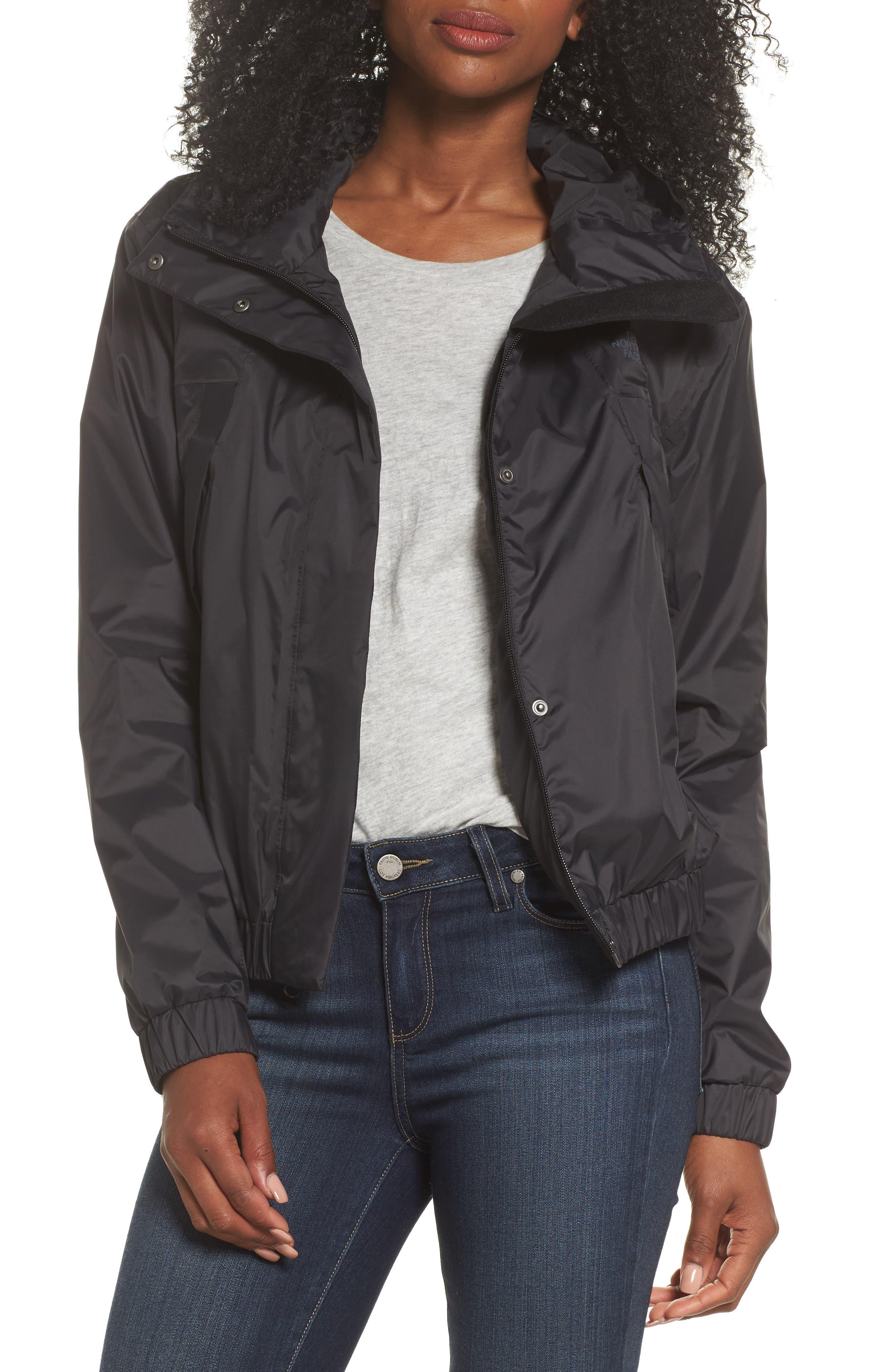 THE NORTH FACE Precita Rain Jacket, Main, color, TNF BLACK