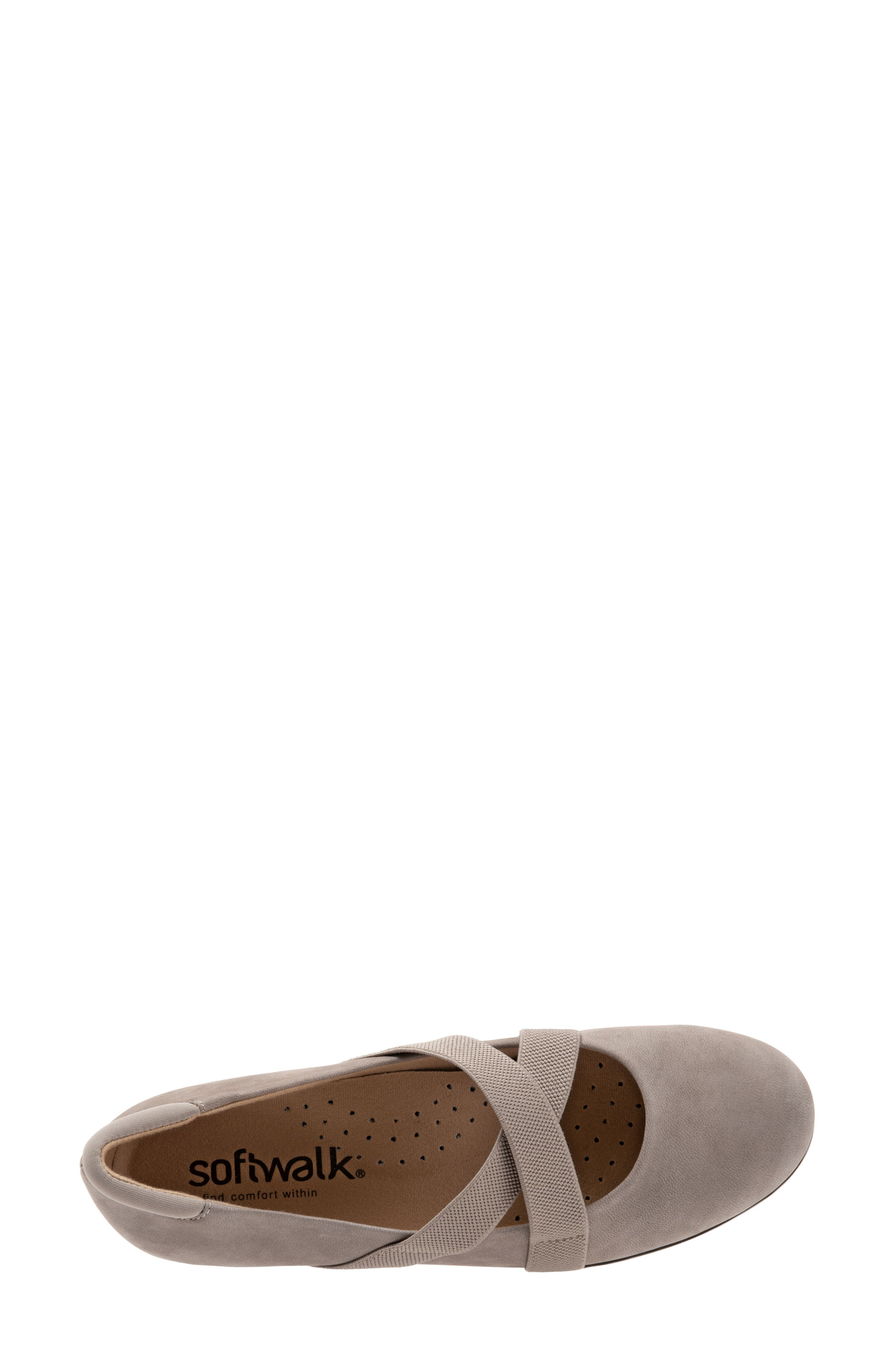SOFTWALK<SUP>®</SUP>, Waverly Mary Jane Wedge, Alternate thumbnail 5, color, TAUPE LEATHER