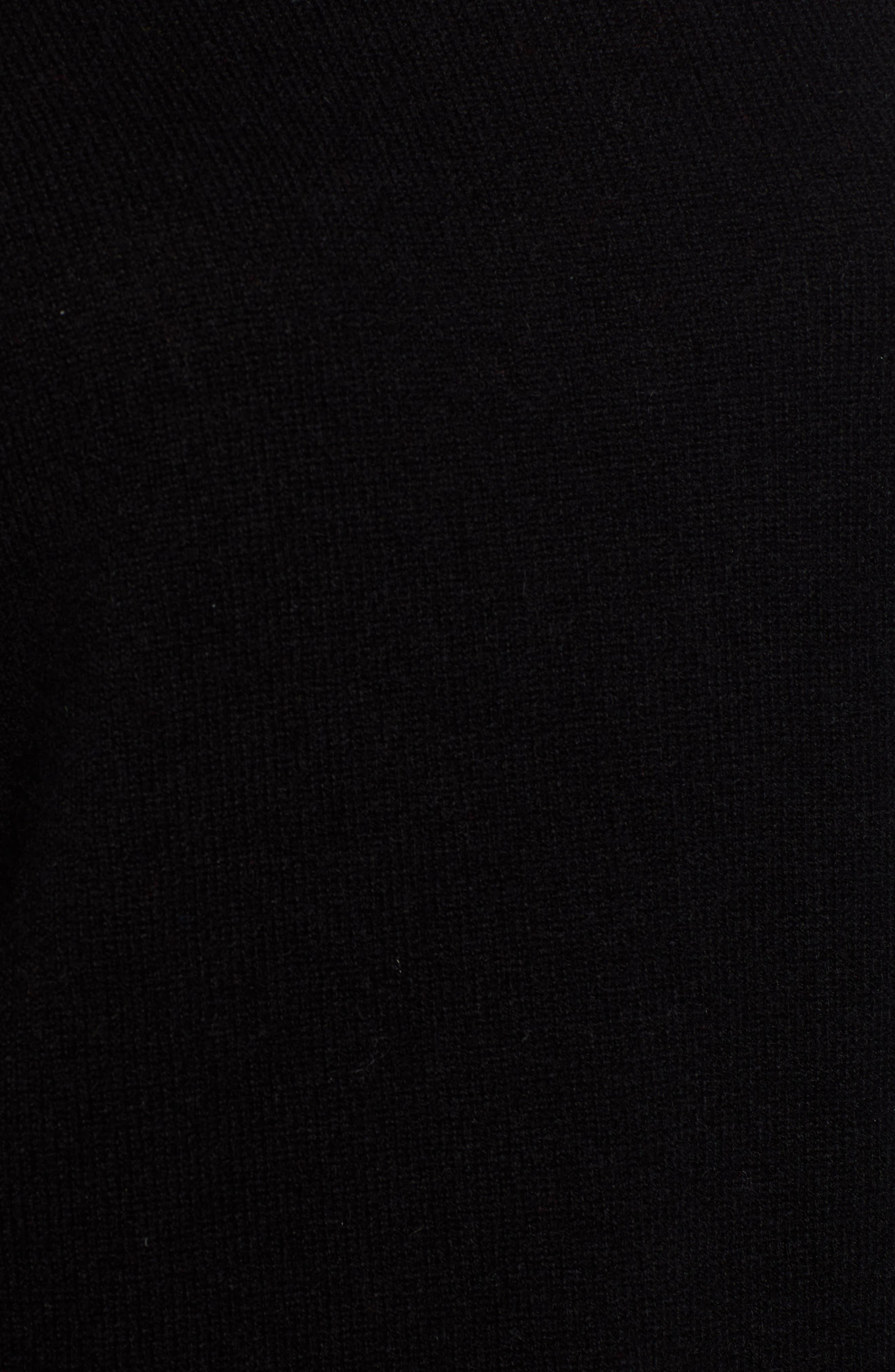 HALOGEN<SUP>®</SUP>, Cashmere Turtleneck Sweater, Alternate thumbnail 5, color, 001