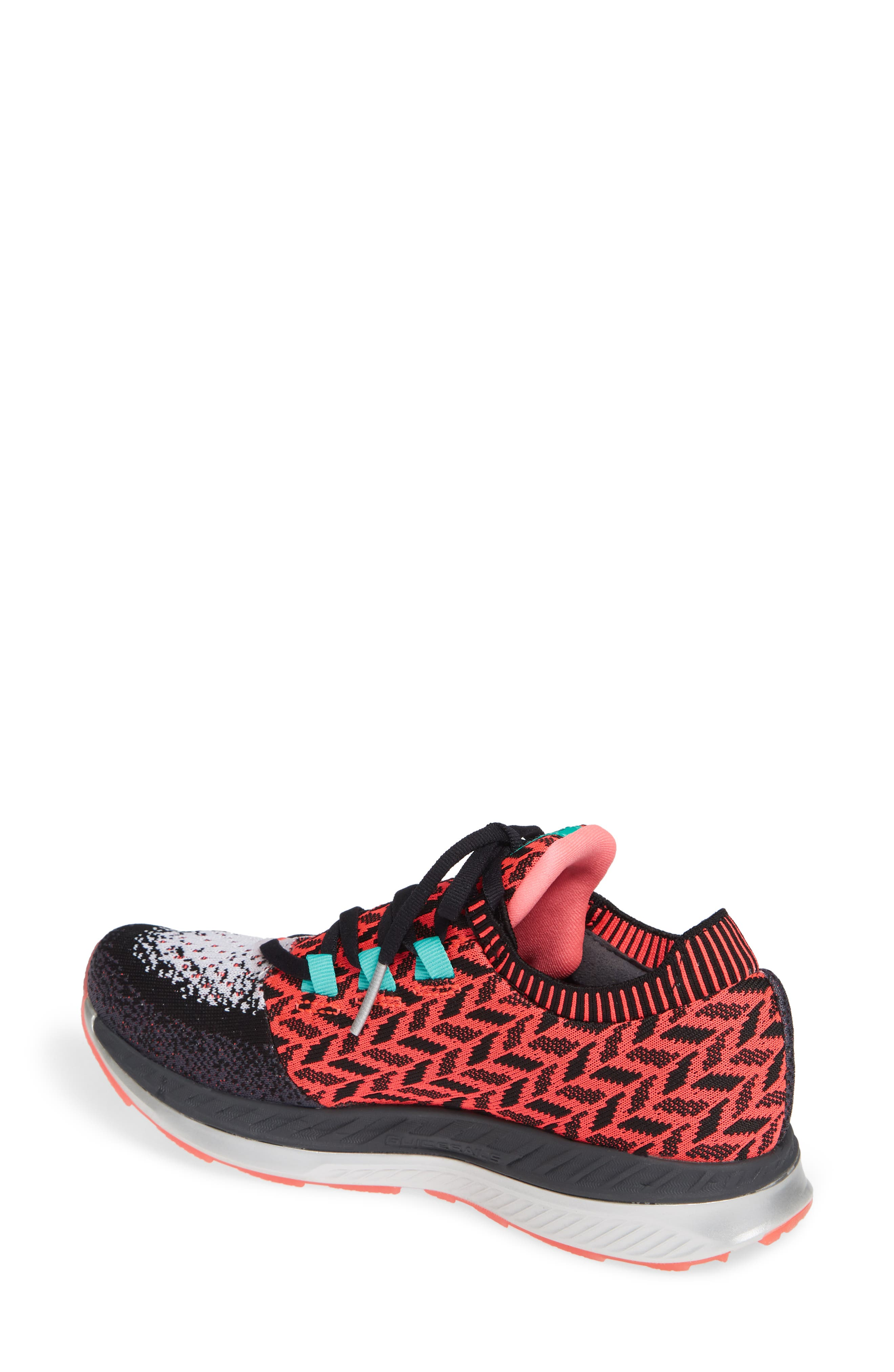BROOKS, Bedlam Running Shoe, Alternate thumbnail 2, color, PINK/ BLACK/ WHITE