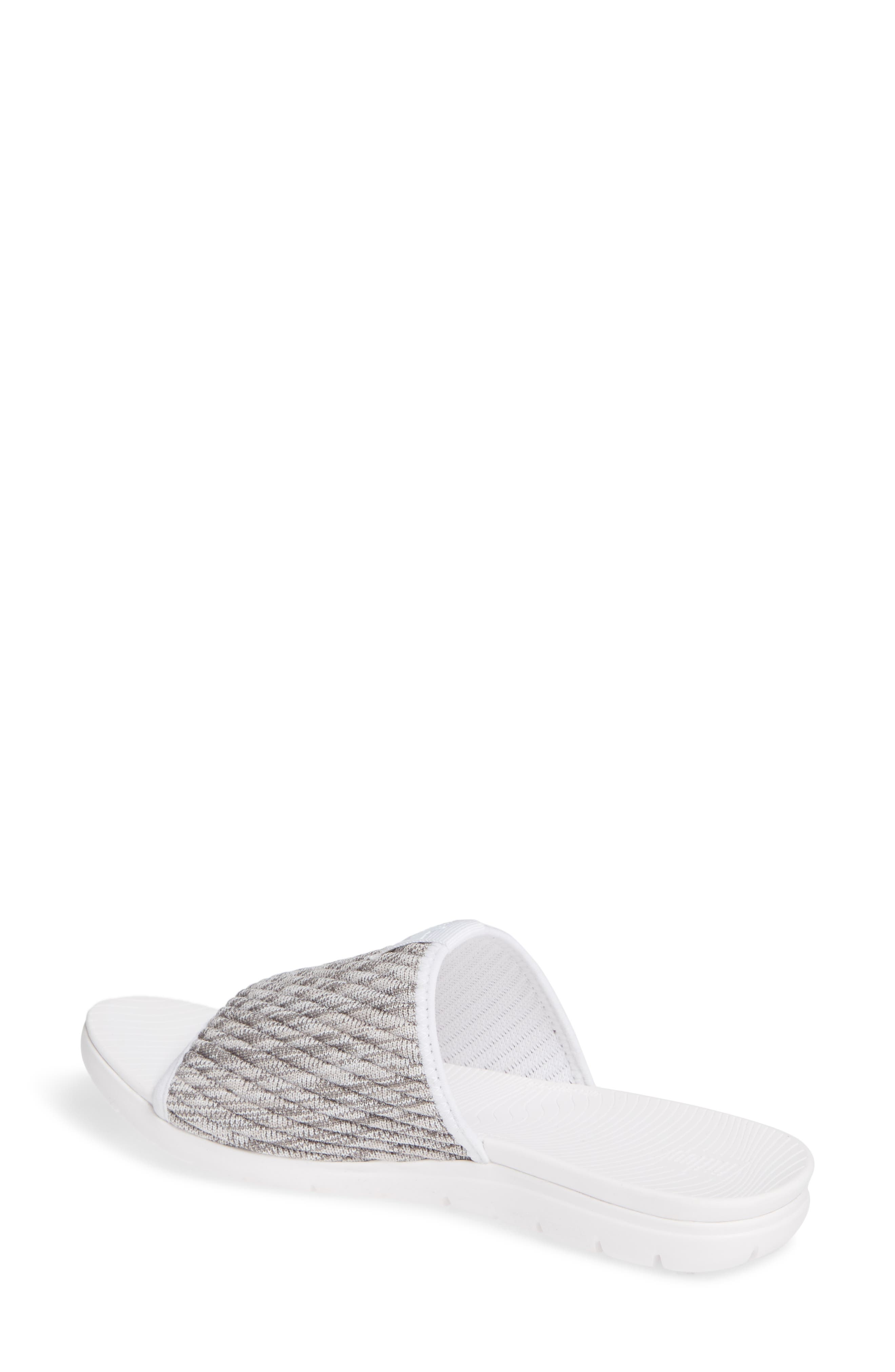 FITFLOP, Artknit Slide Sandal, Alternate thumbnail 2, color, URBAN WHITE MIX FABRIC