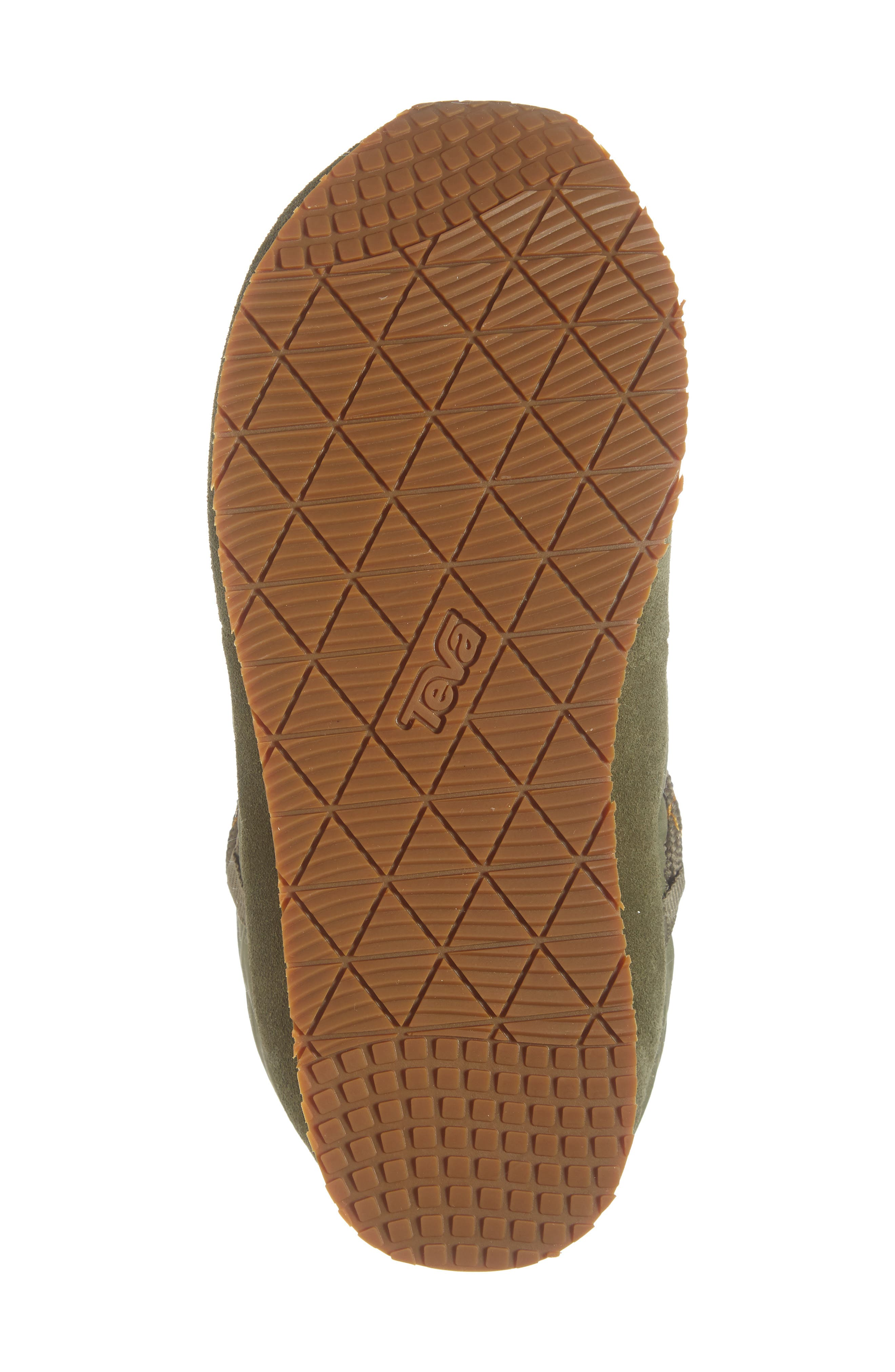TEVA, Ember Lace-Up Winter Bootie, Alternate thumbnail 6, color, BURNT OLIVE FABRIC