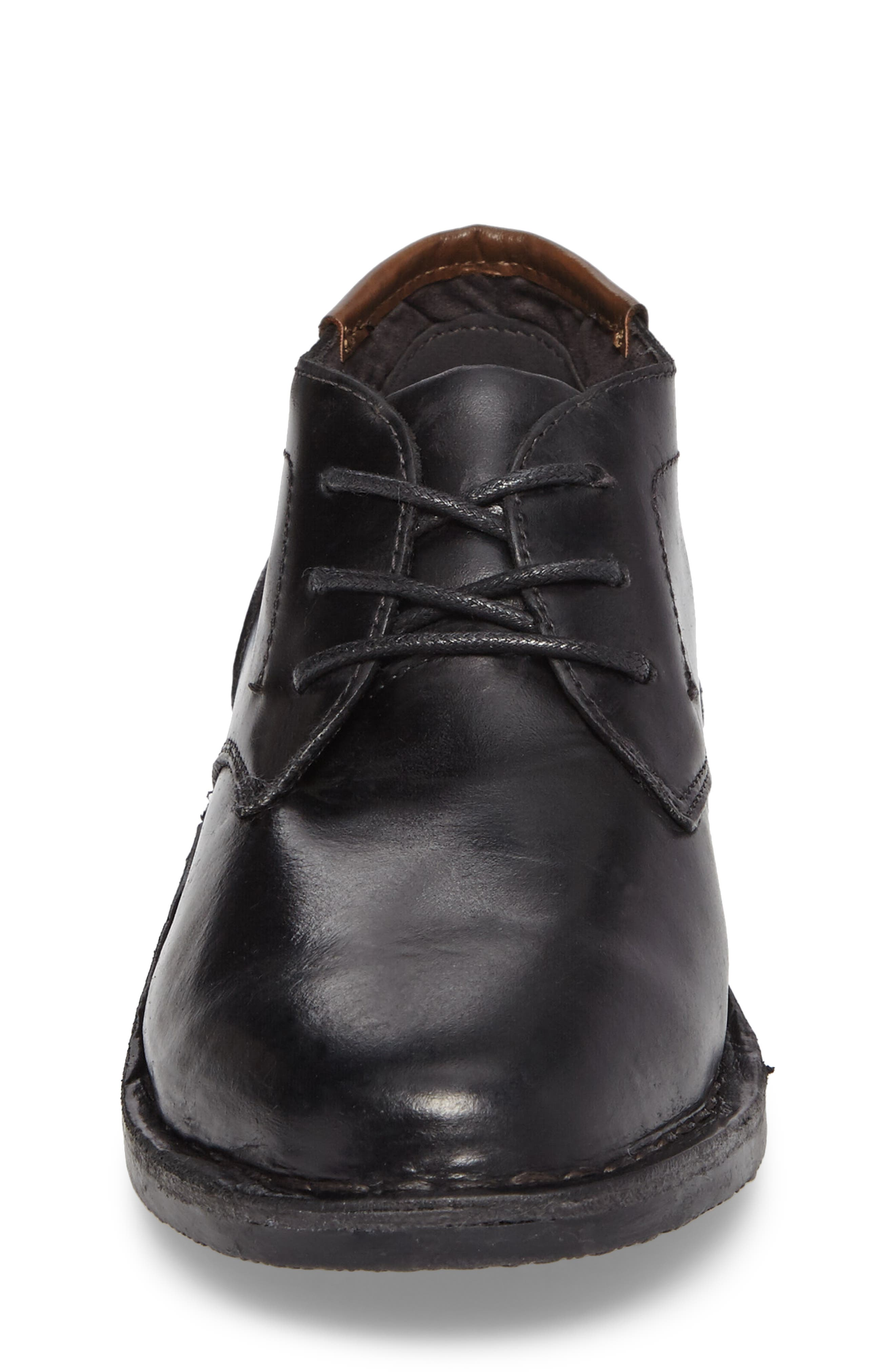 KENNETH COLE NEW YORK, Real Deal Chukka Boot, Alternate thumbnail 4, color, BLACK LEATHER