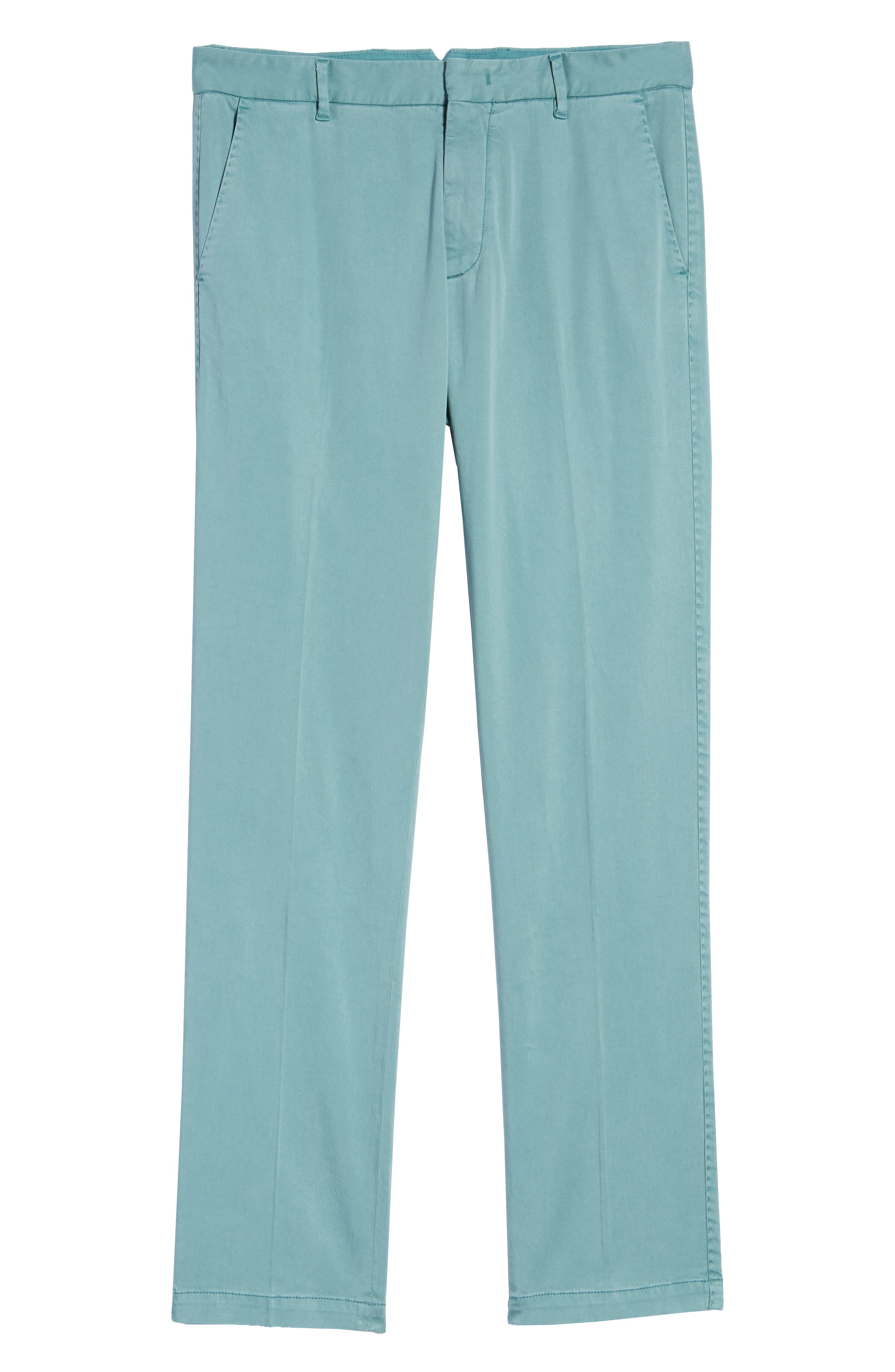 ZACHARY PRELL, Aster Straight Fit Pants, Alternate thumbnail 7, color, TEAL