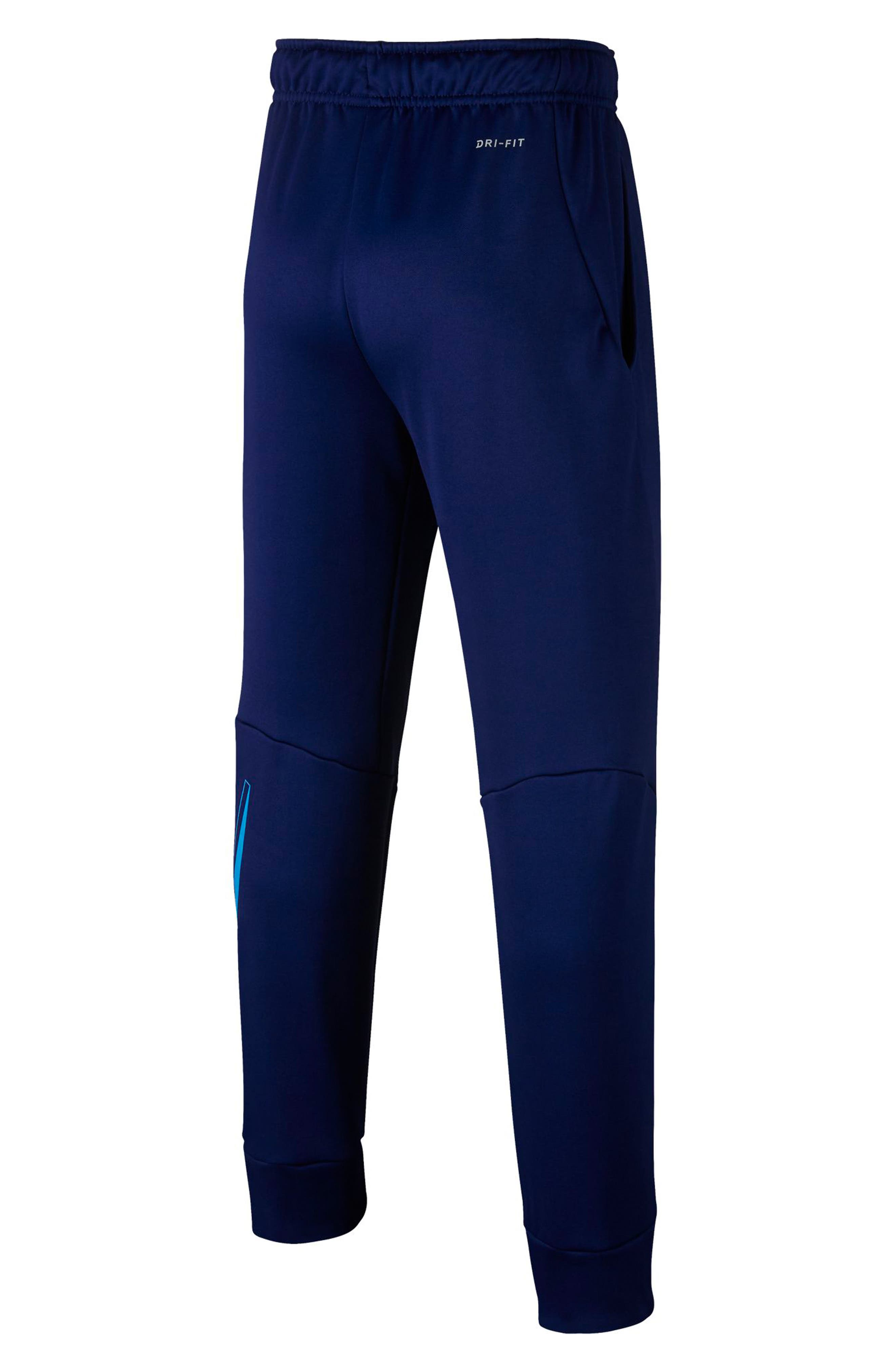 NIKE, Therma Sweatpants, Alternate thumbnail 2, color, BLUE VOID/ BLUE HERO