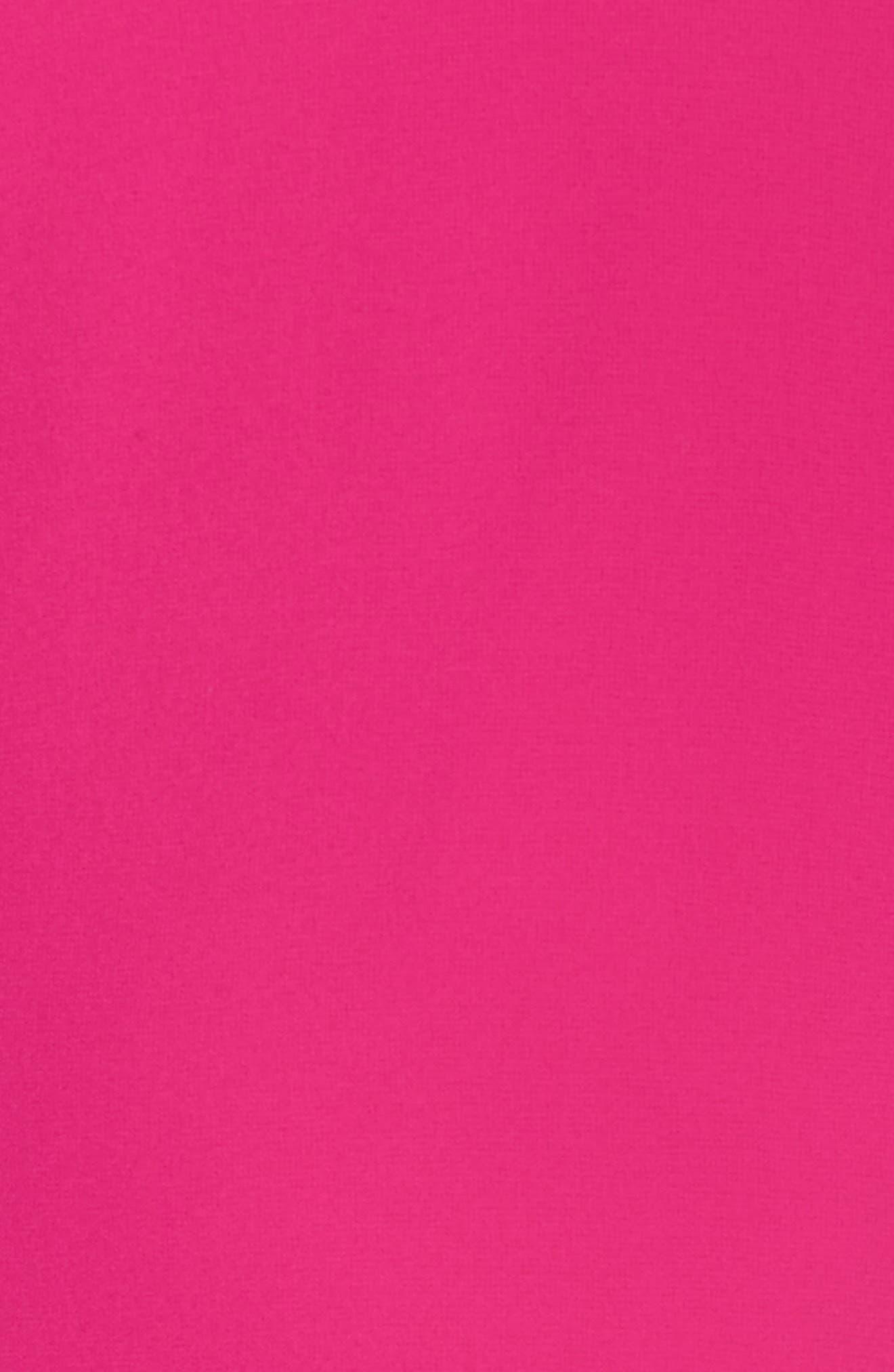 VINCE CAMUTO, Cape Back Shift Dress, Alternate thumbnail 6, color, FUCHSIA