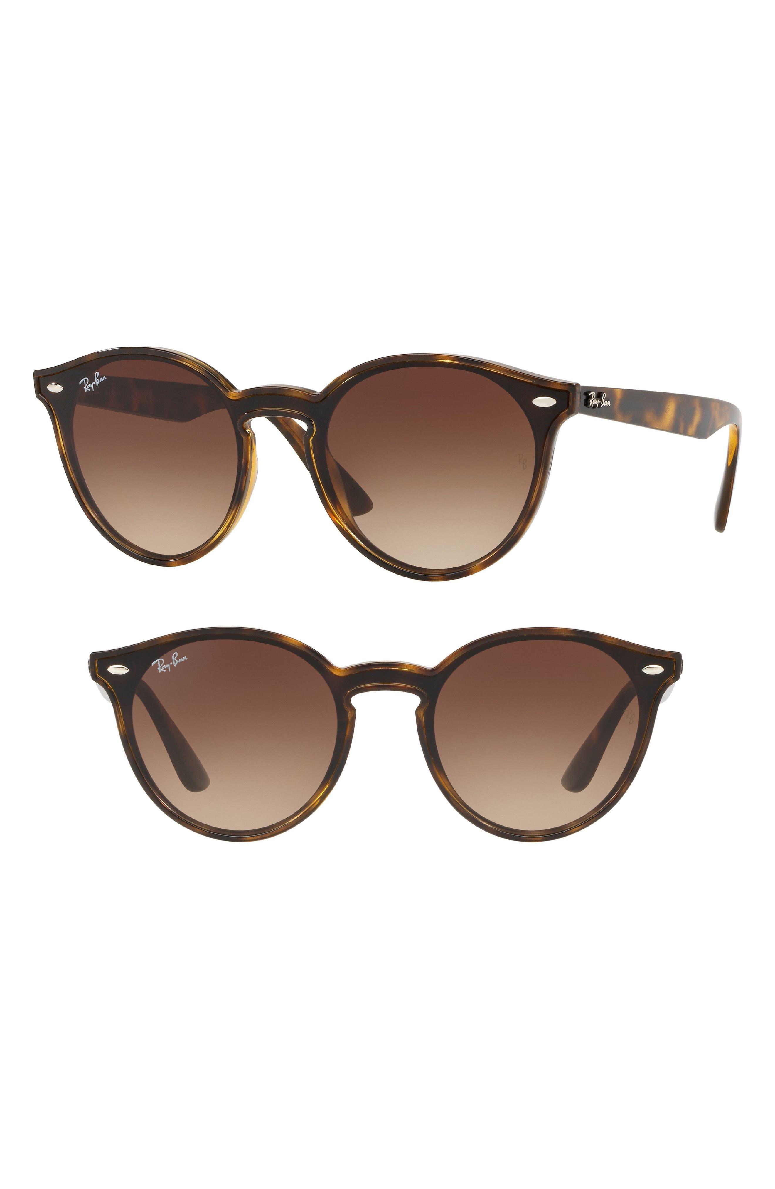 RAY-BAN, Blaze 37mm Round Sunglasses, Main thumbnail 1, color, LIGHT HAVANA GRADIENT