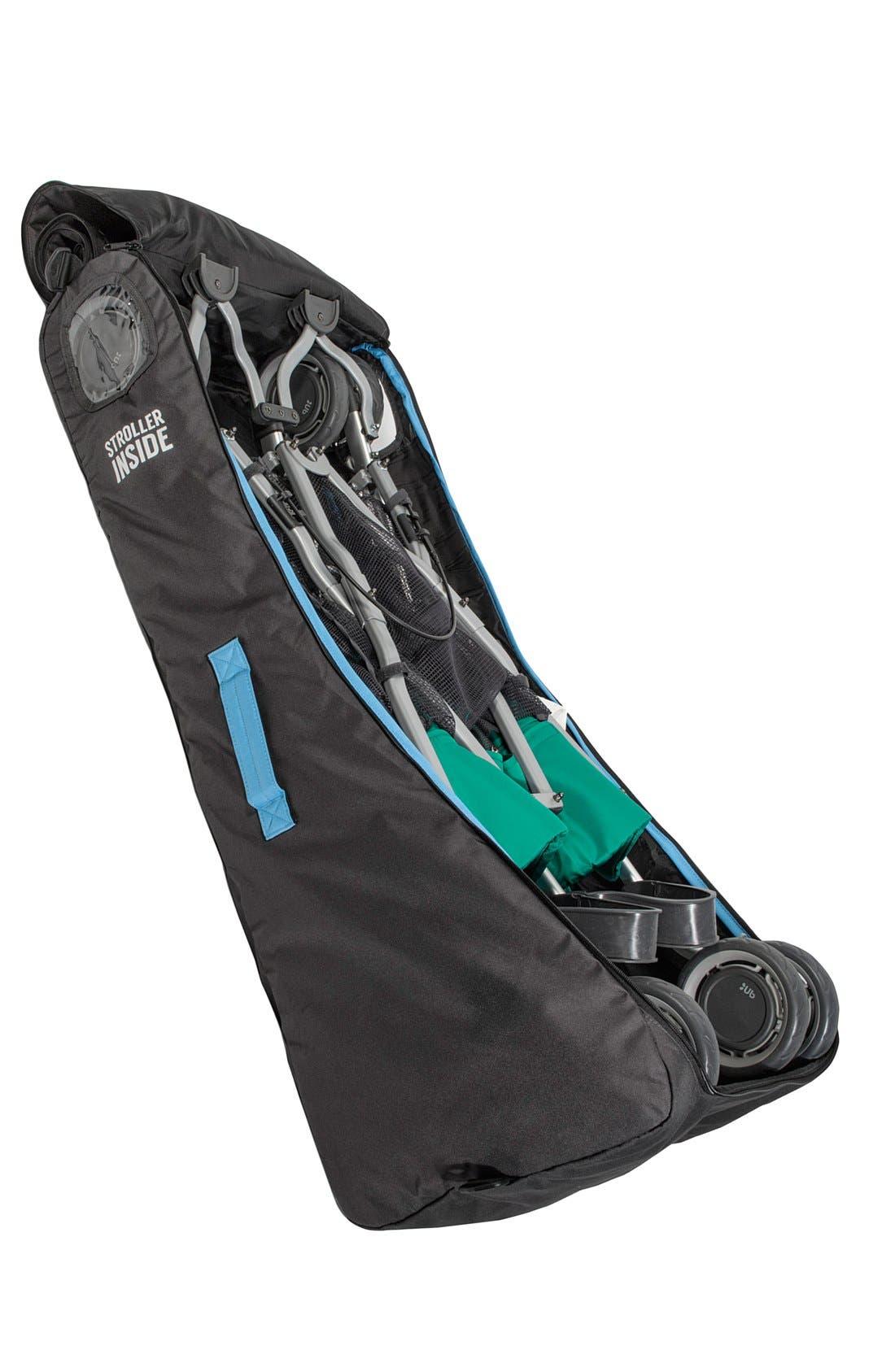 UPPABABY, 'G-LINK<sup>™</sup>' Side by Side Stroller Travel Bag, Alternate thumbnail 2, color, black