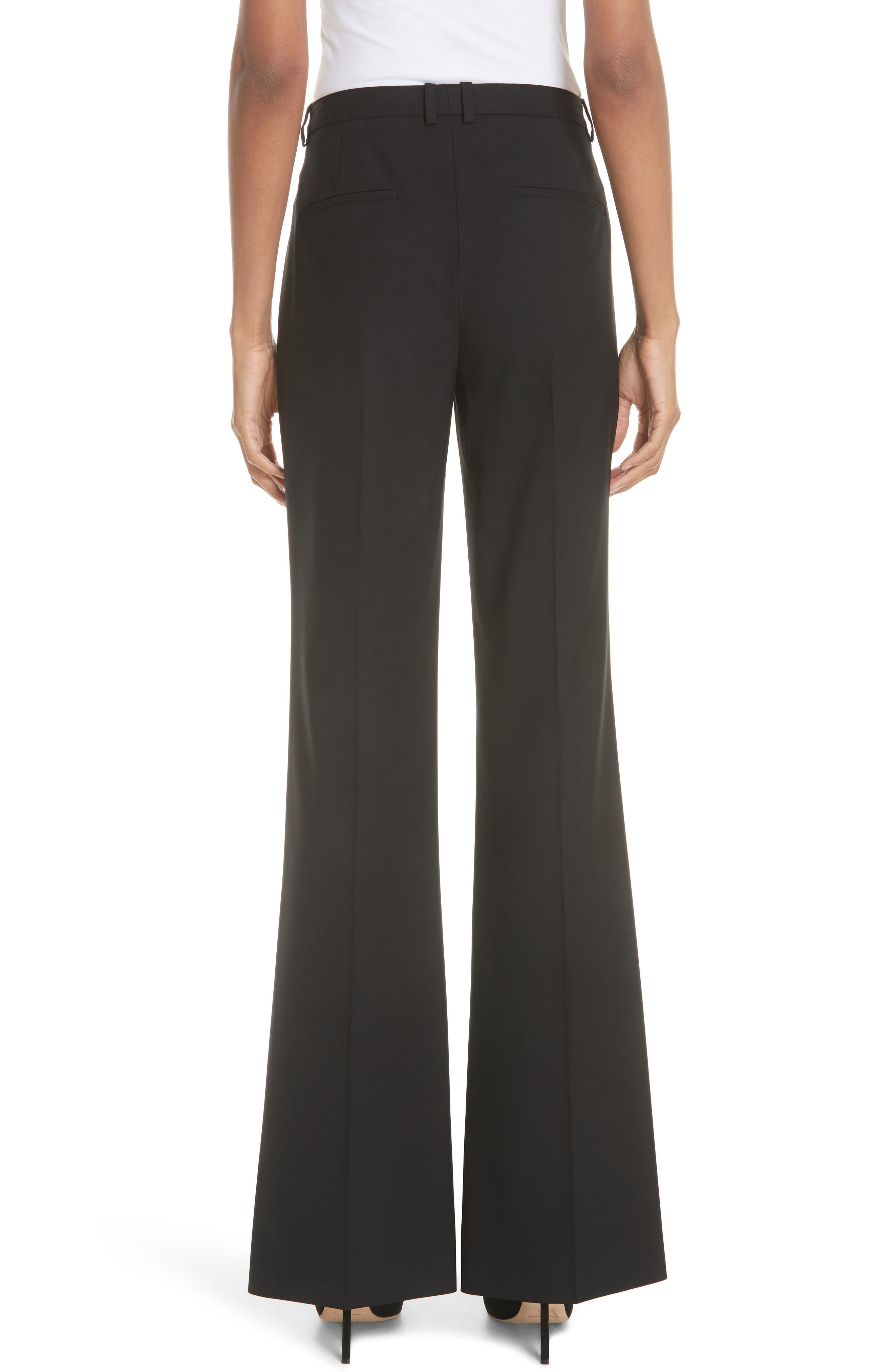 THEORY, Demitria 2 Stretch Wool Suit Pants, Alternate thumbnail 2, color, BLACK