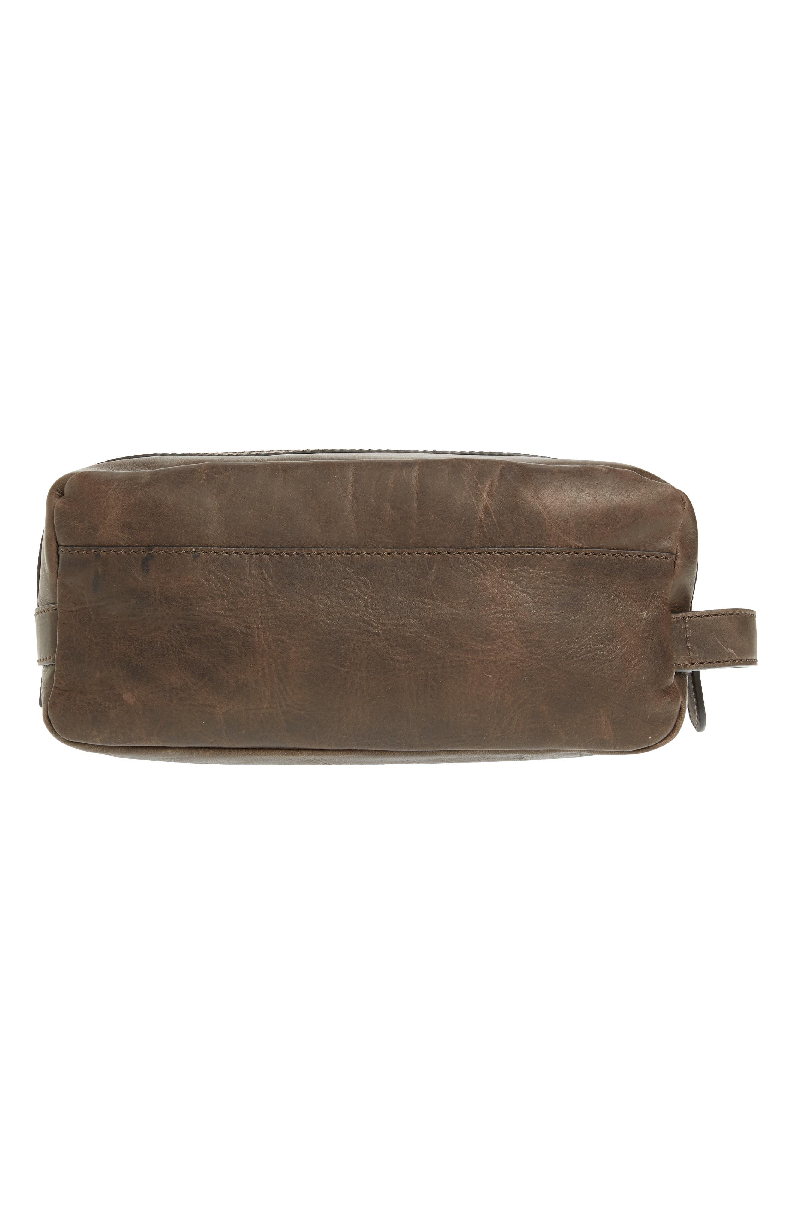 FRYE, 'Logan' Leather Travel Kit, Alternate thumbnail 2, color, SLATE