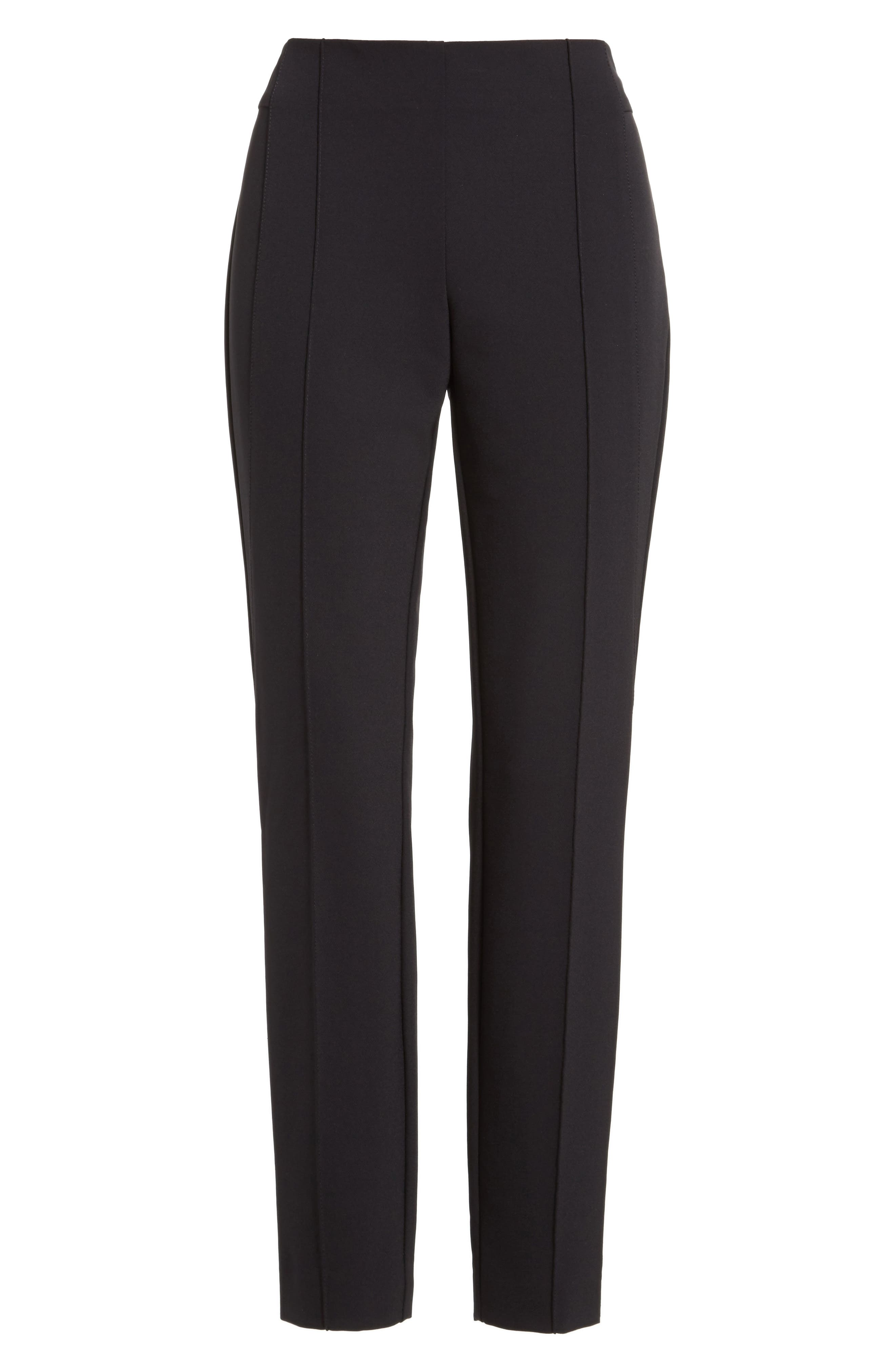 LAFAYETTE 148 NEW YORK, 'Gramercy' Acclaimed Stretch Pants, Alternate thumbnail 2, color, BLACK