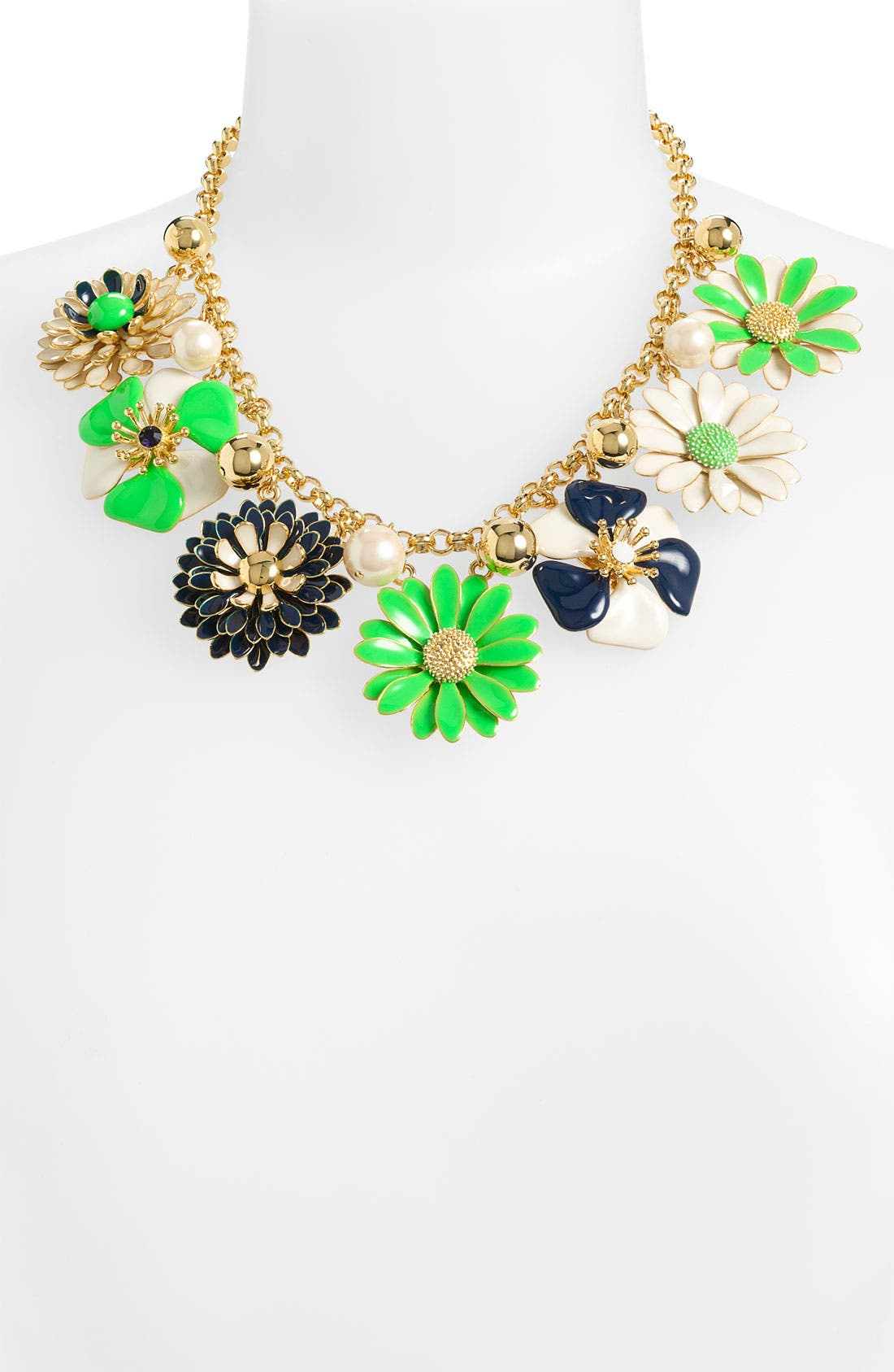 KATE SPADE NEW YORK, 'posey park' statement necklace, Main thumbnail 1, color, 300