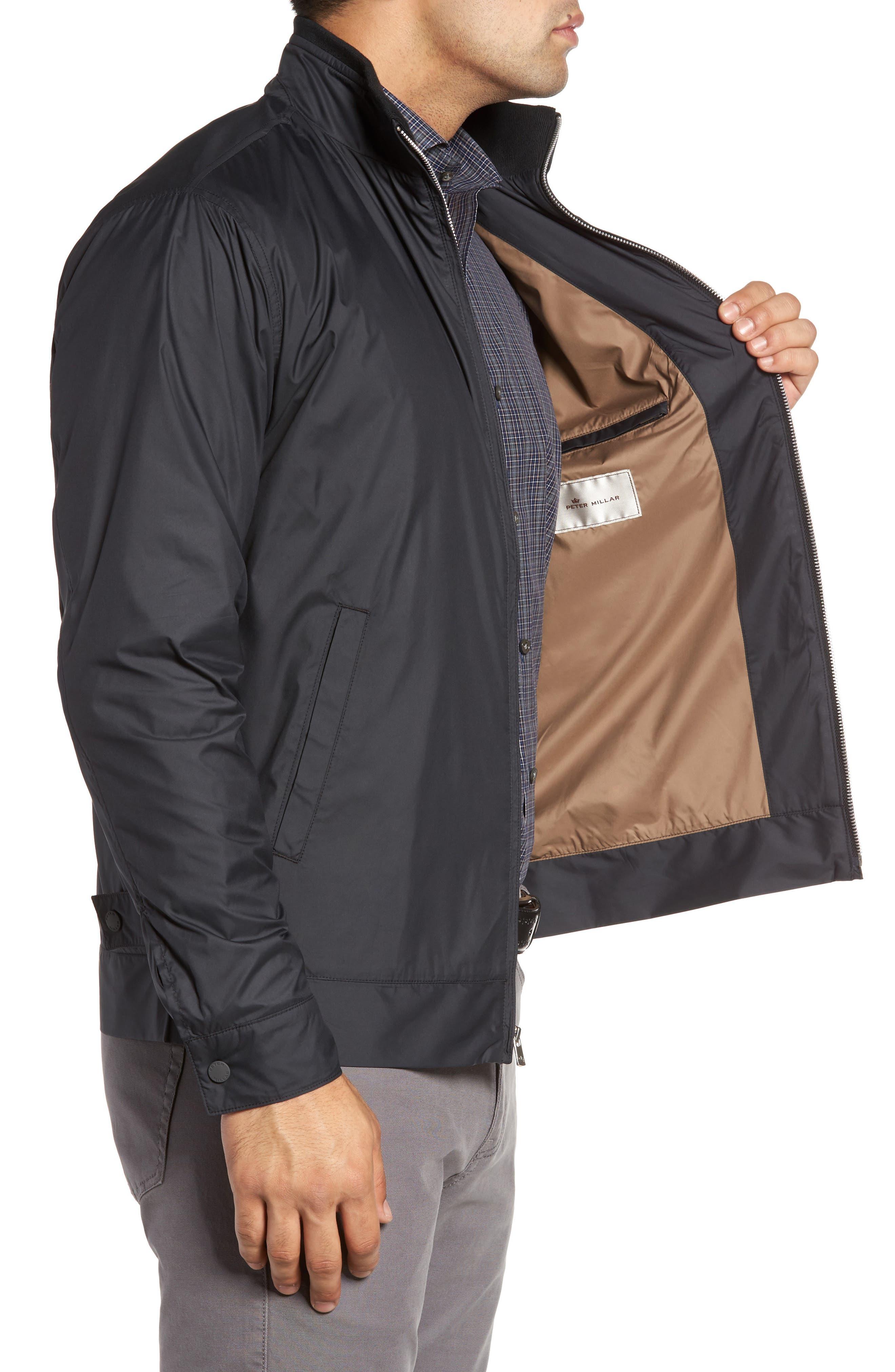 PETER MILLAR, Zip Jacket, Alternate thumbnail 4, color, BLACK