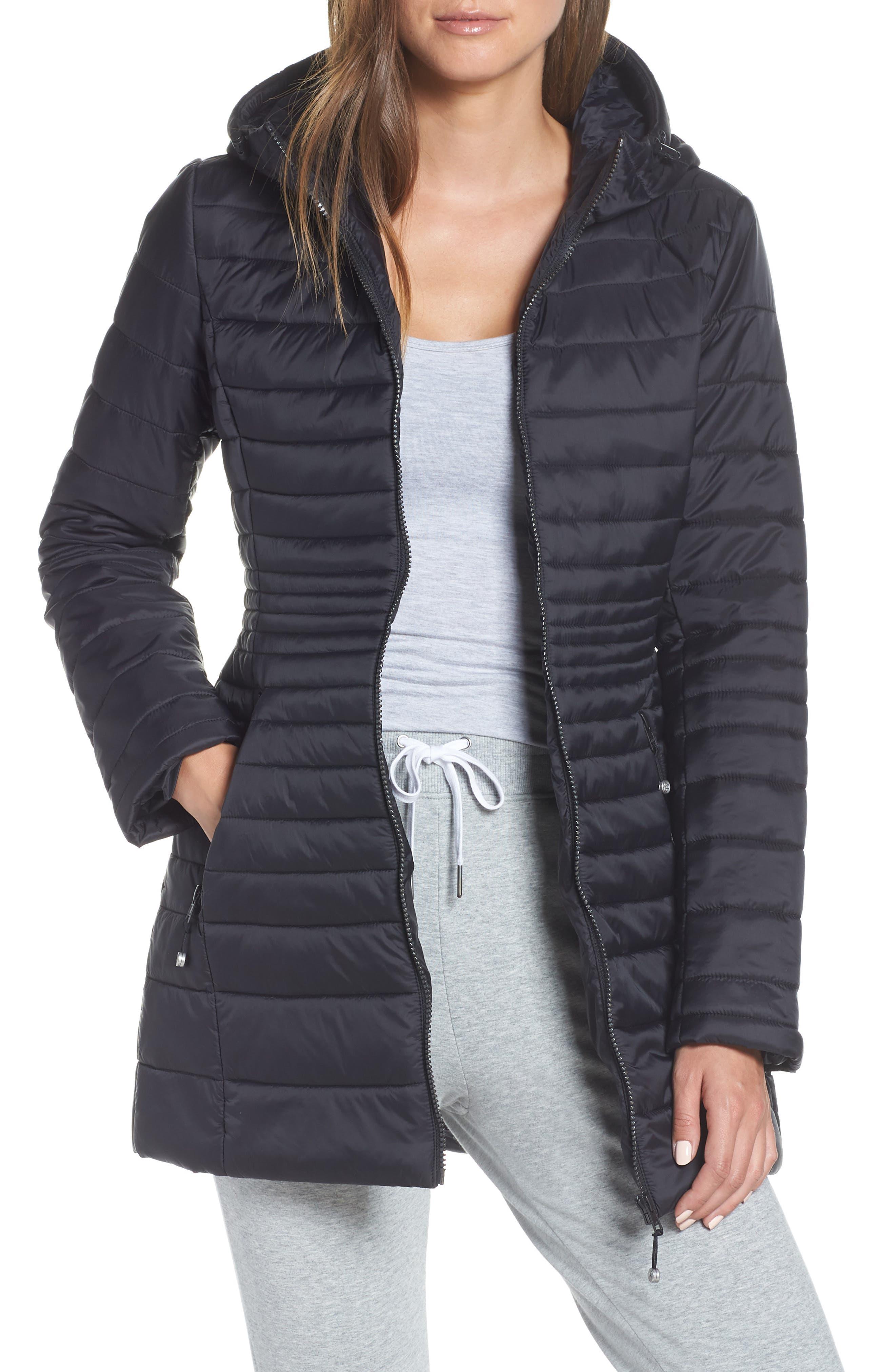 ZELLA, City Dweller Water Resistant Puffer Jacket, Main thumbnail 1, color, 001