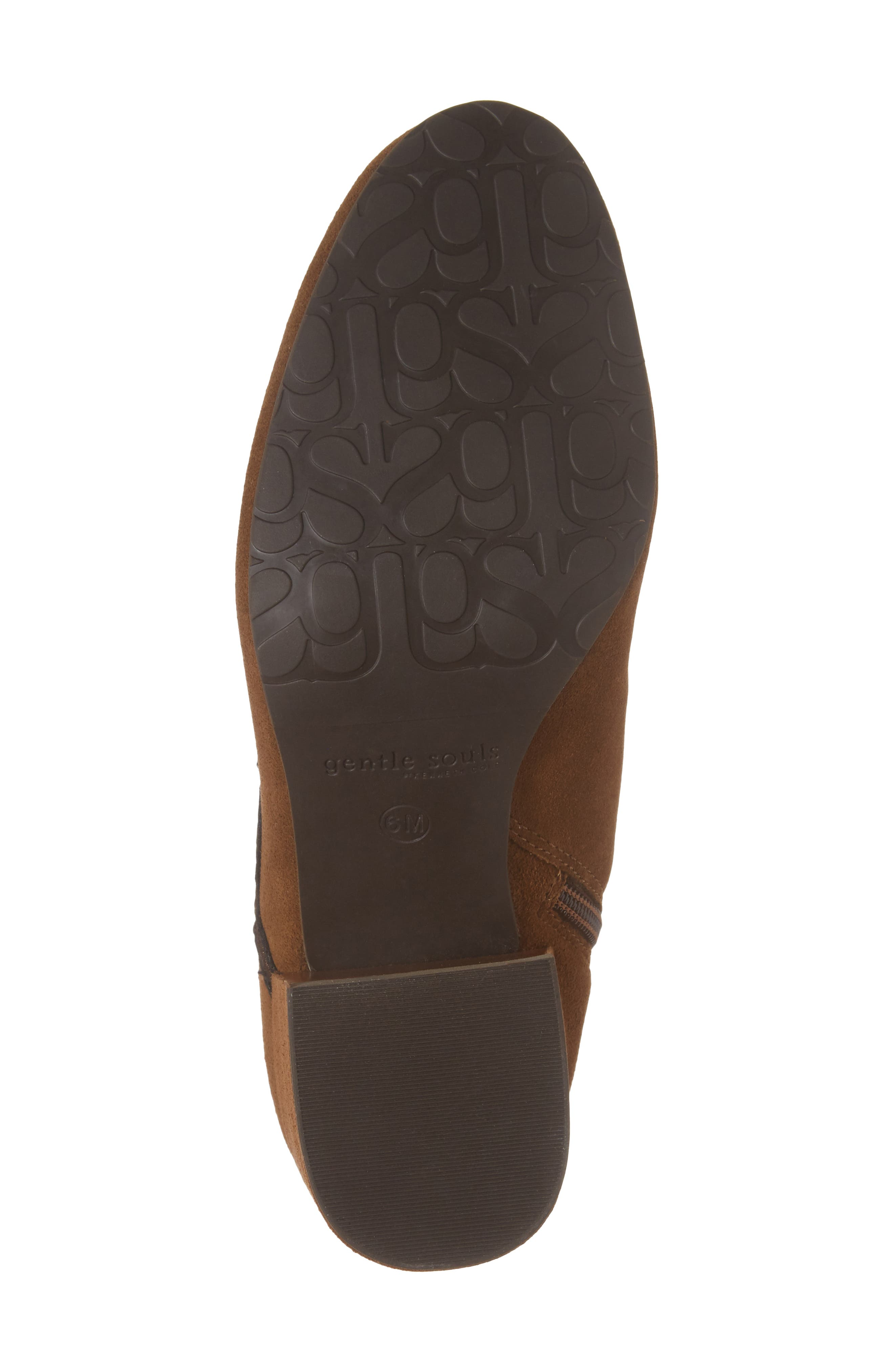GENTLE SOULS BY KENNETH COLE, Blaise Patches Bootie, Alternate thumbnail 6, color, WALNUT SUEDE