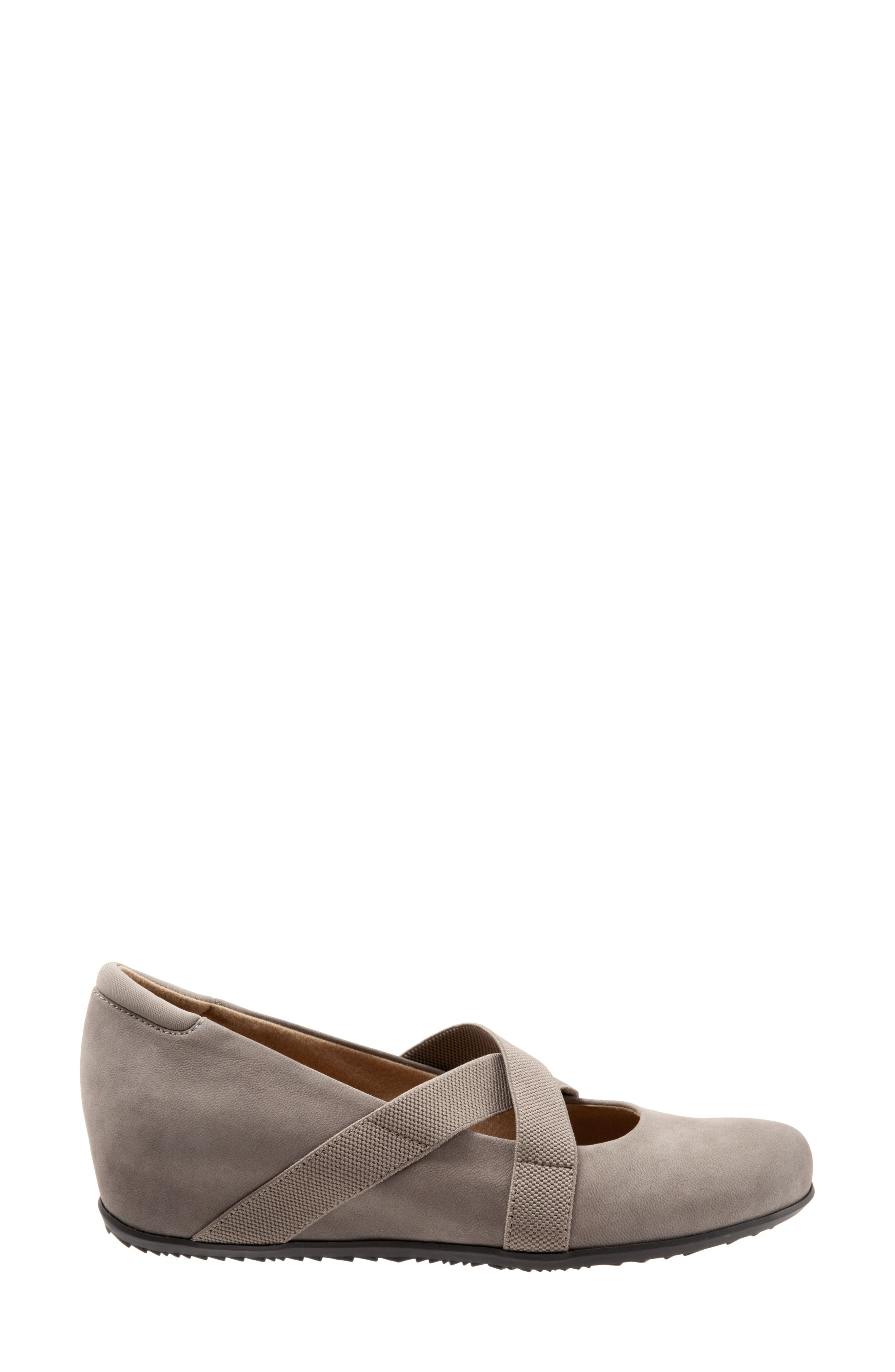 SOFTWALK<SUP>®</SUP>, Waverly Mary Jane Wedge, Alternate thumbnail 3, color, TAUPE LEATHER