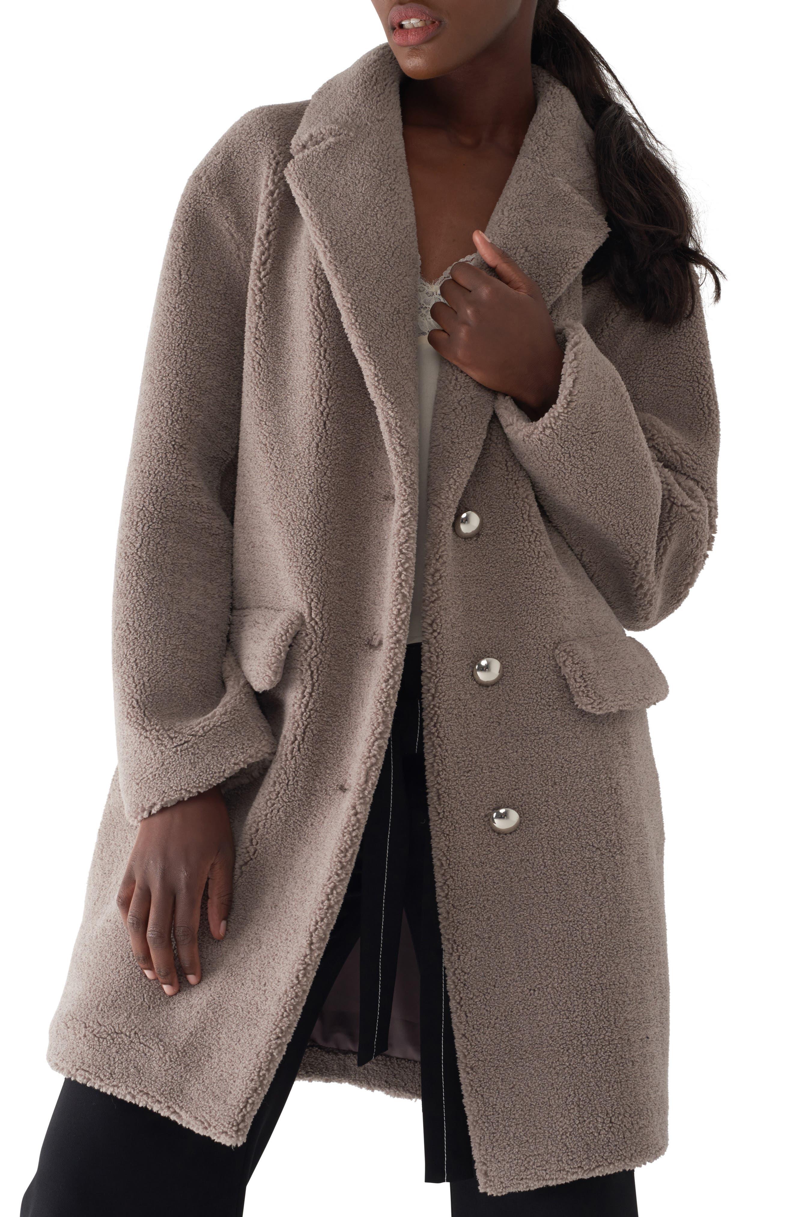 SOSKEN Gita Teddy Coat, Main, color, 256