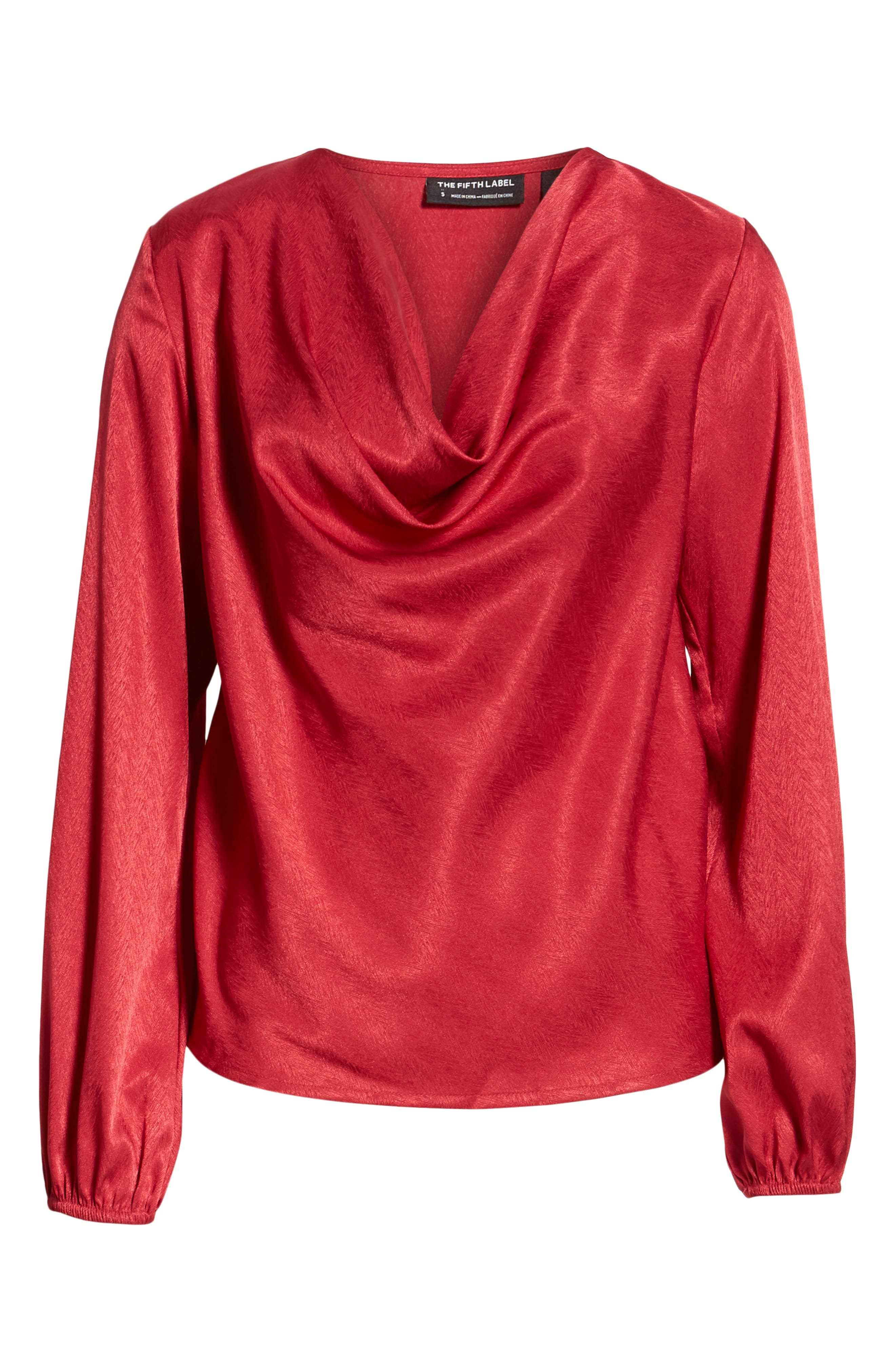 THE FIFTH LABEL, Lotti Cowl Neck Top, Alternate thumbnail 6, color, 600