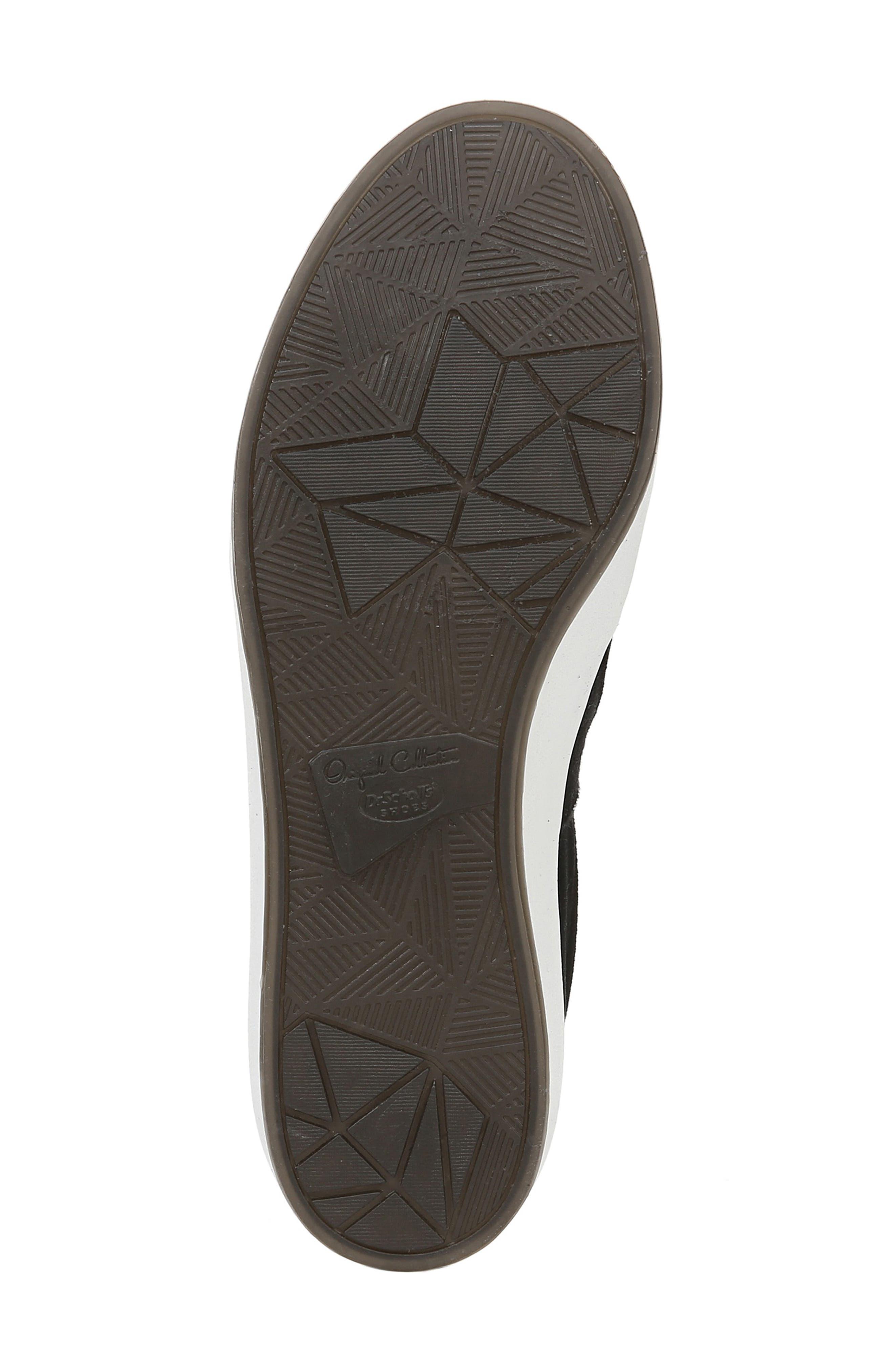 DR. SCHOLL'S, Abbot Lux Sneaker, Alternate thumbnail 6, color, BLACK SUEDE