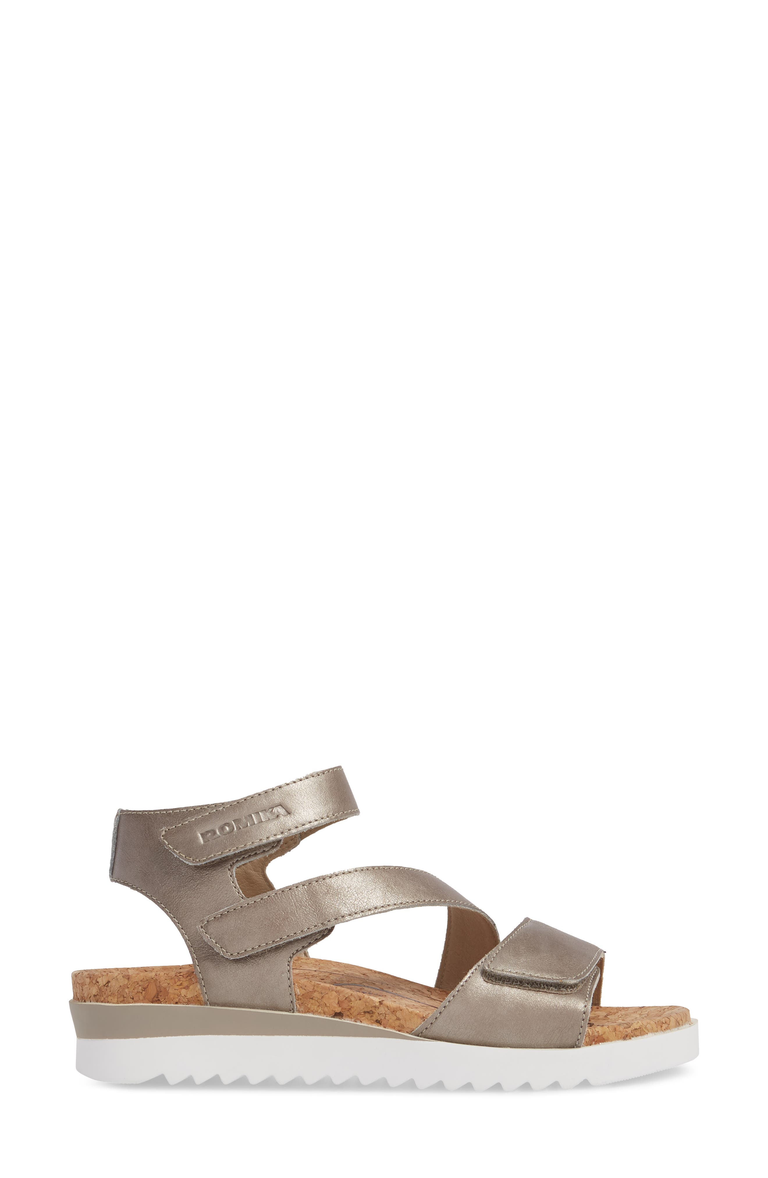ROMIKA<SUP>®</SUP>, Hollywood 04 Sandal, Alternate thumbnail 3, color, PLATINUM LEATHER