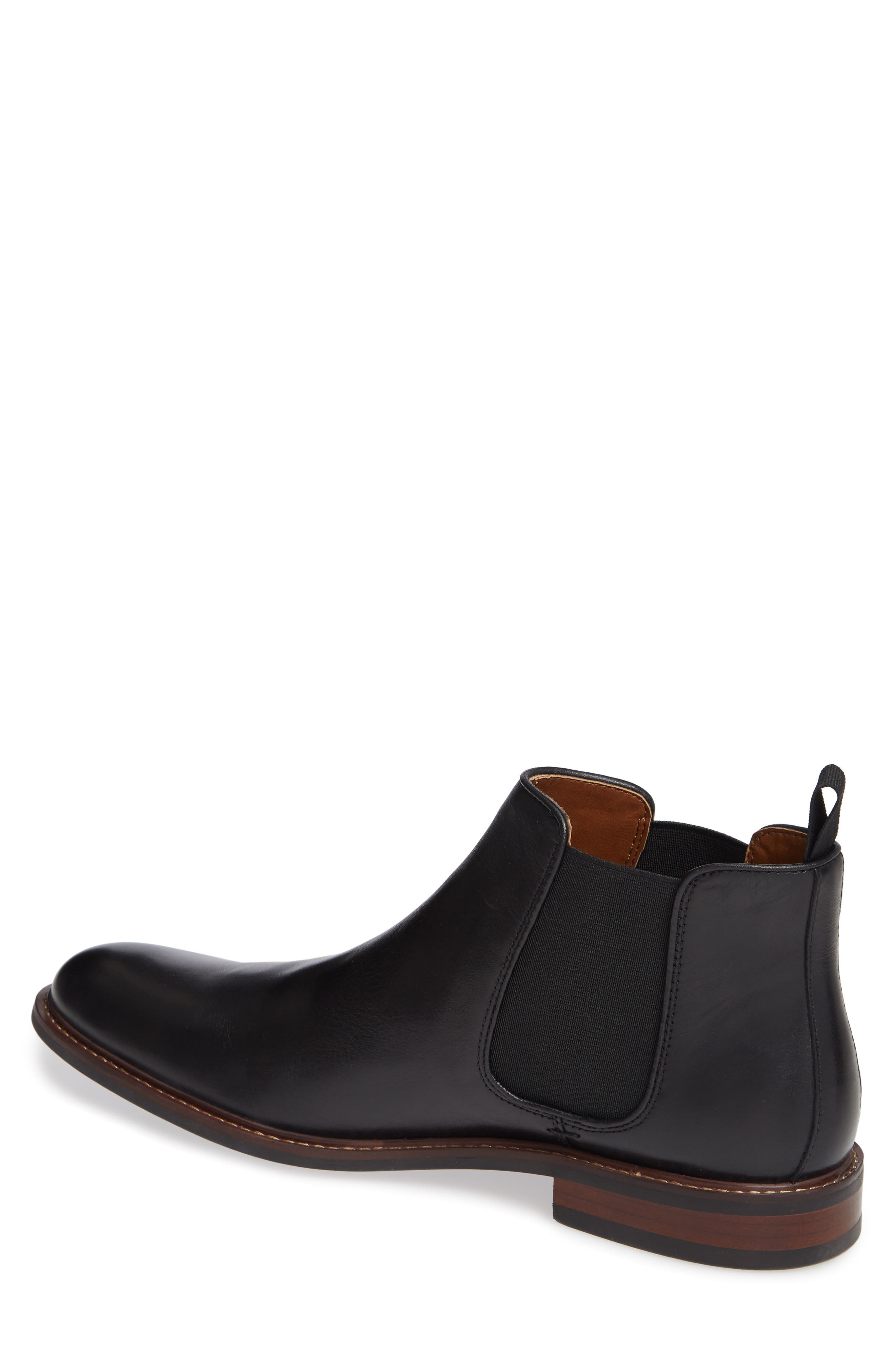 NORDSTROM MEN'S SHOP, David Chelsea Boot, Alternate thumbnail 2, color, BLACK LEATHER