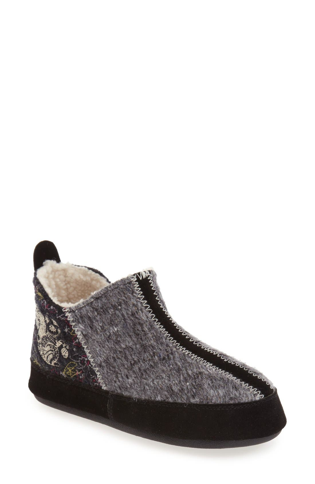 ACORN, 'Forest' Bootie Slipper, Main thumbnail 1, color, GREY WOOL