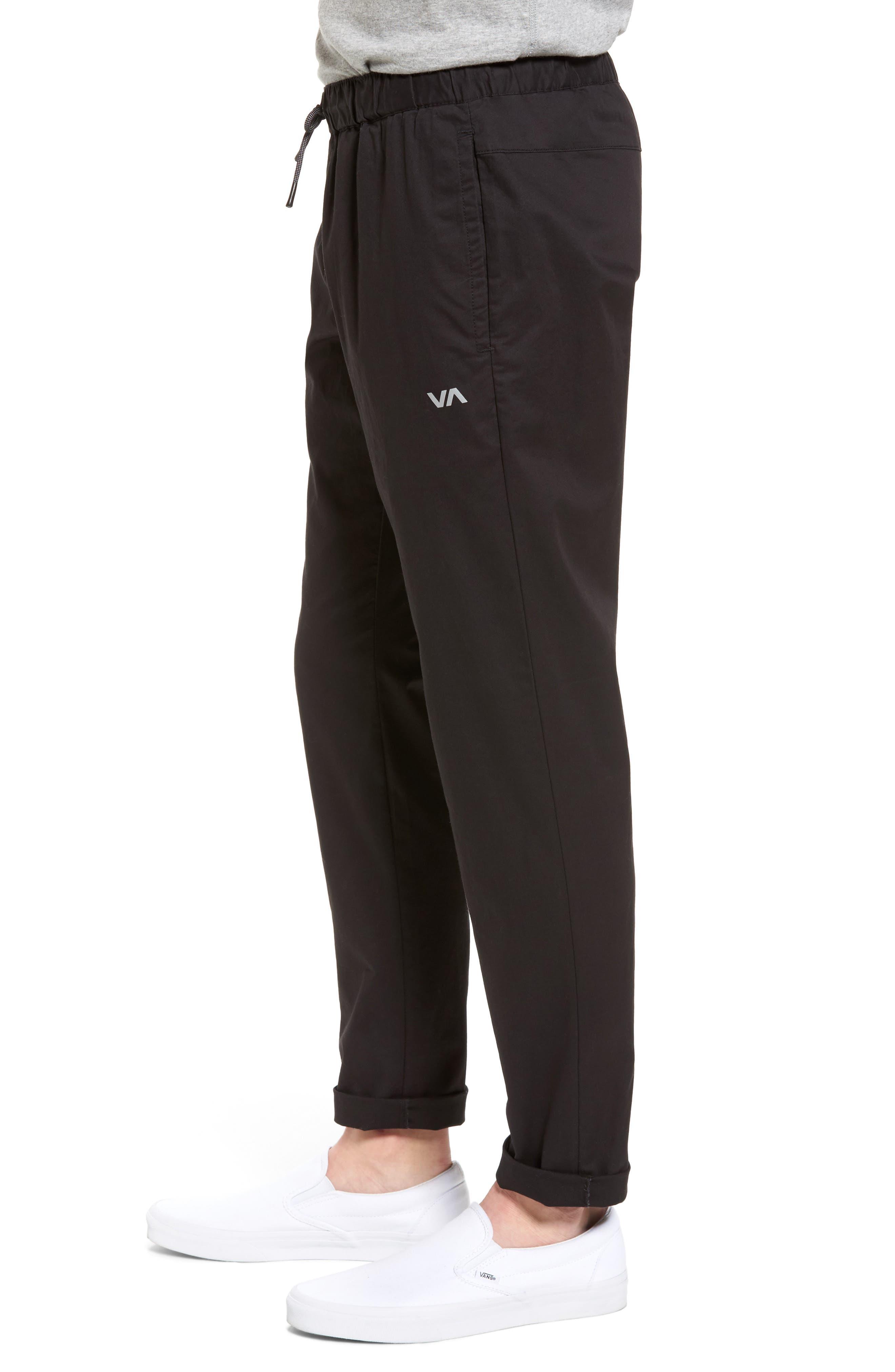 RVCA, Spectrum Sport Pants, Alternate thumbnail 4, color, 001
