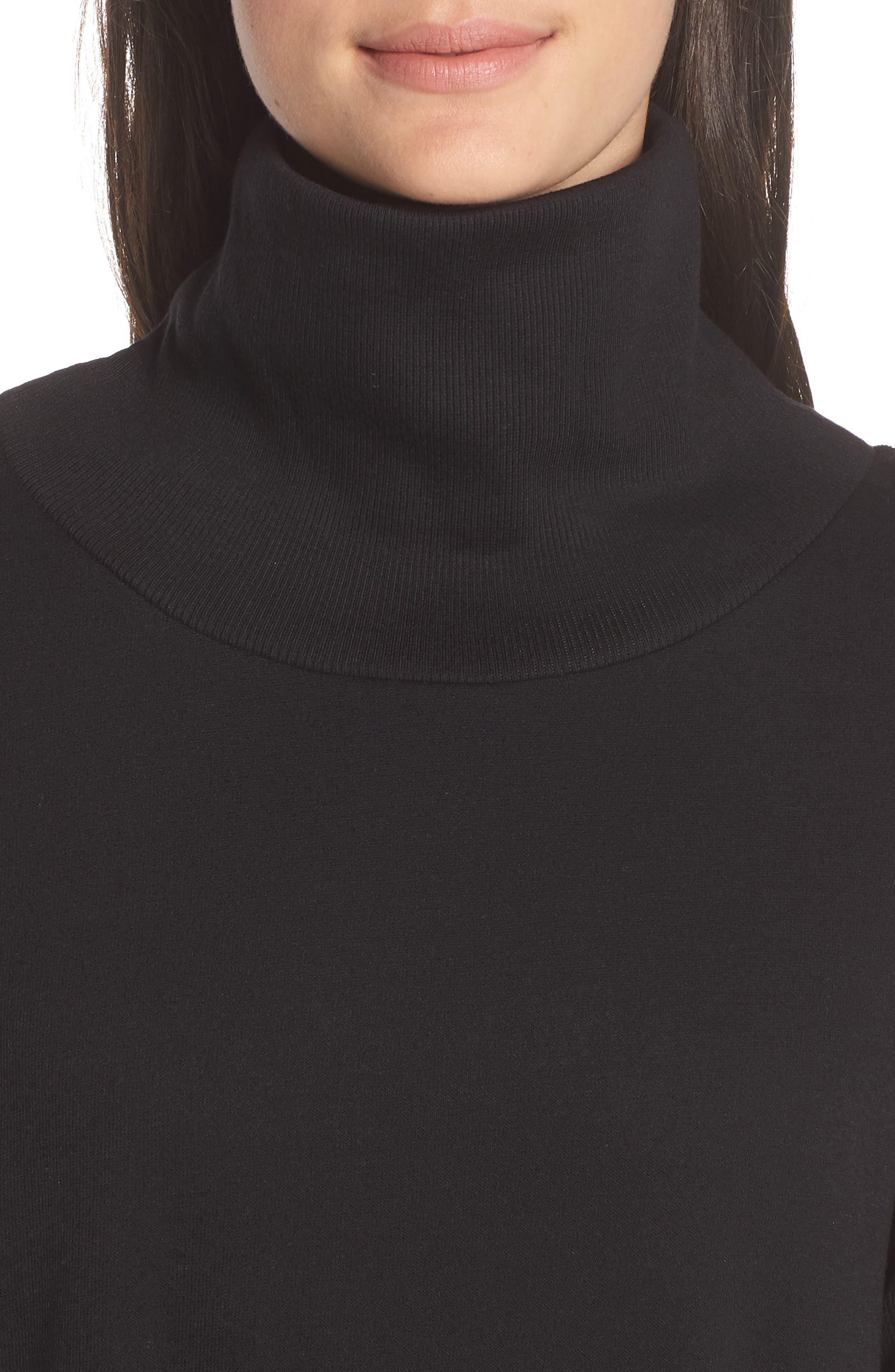 ALO, Clarity Long Sleeve Sweatshirt, Alternate thumbnail 5, color, BLACK