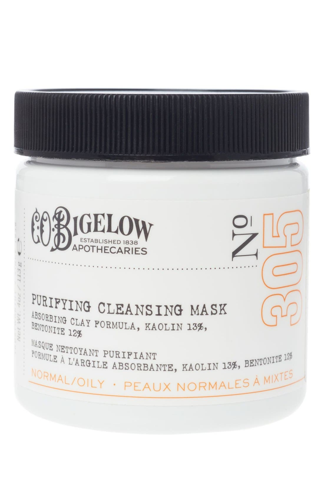 C.O. BIGELOW  Purifying Cleansing Mask, Main, color, NO COLOR