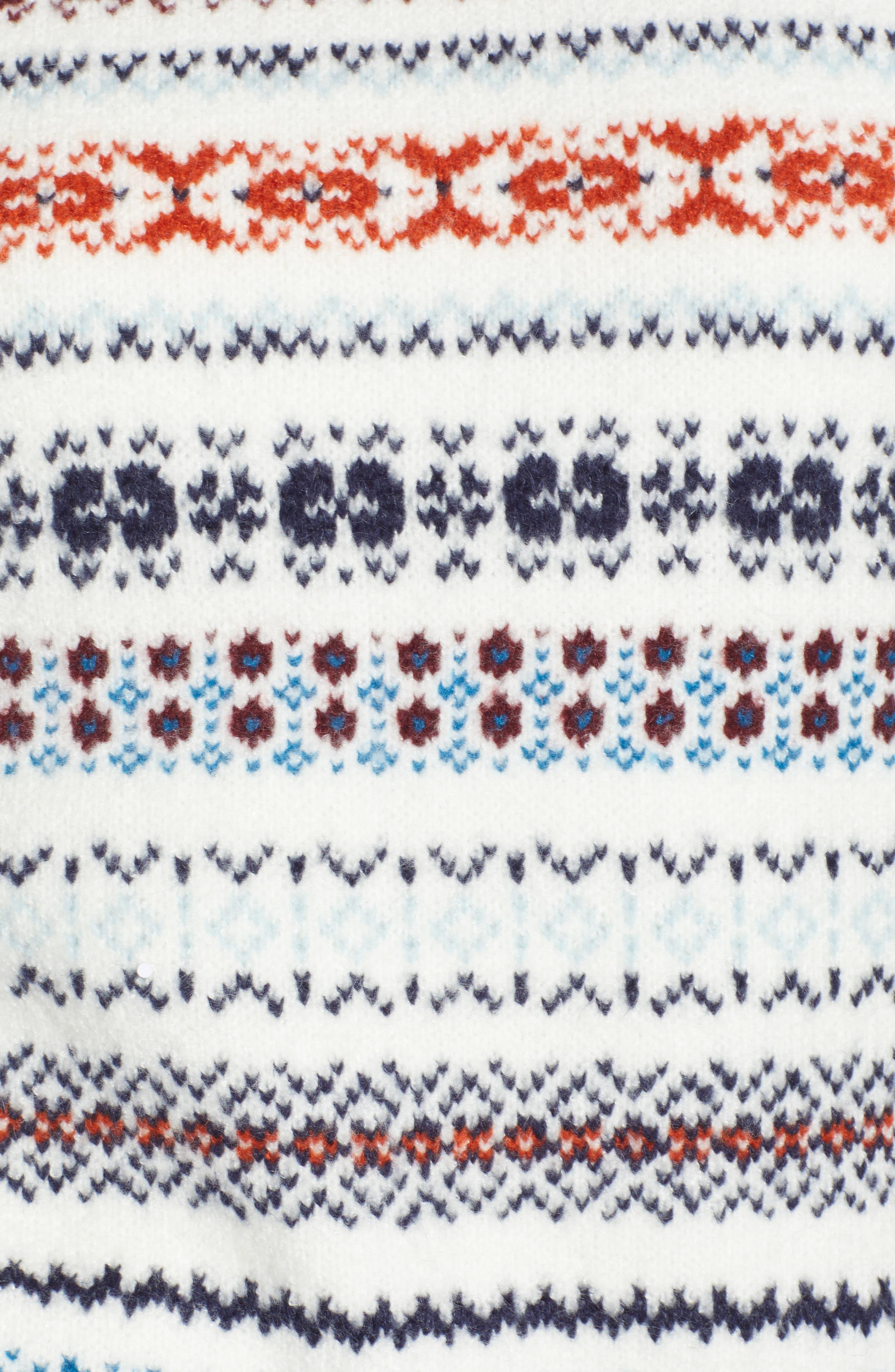 TREASURE & BOND, Fair Isle Sweater, Alternate thumbnail 5, color, 900