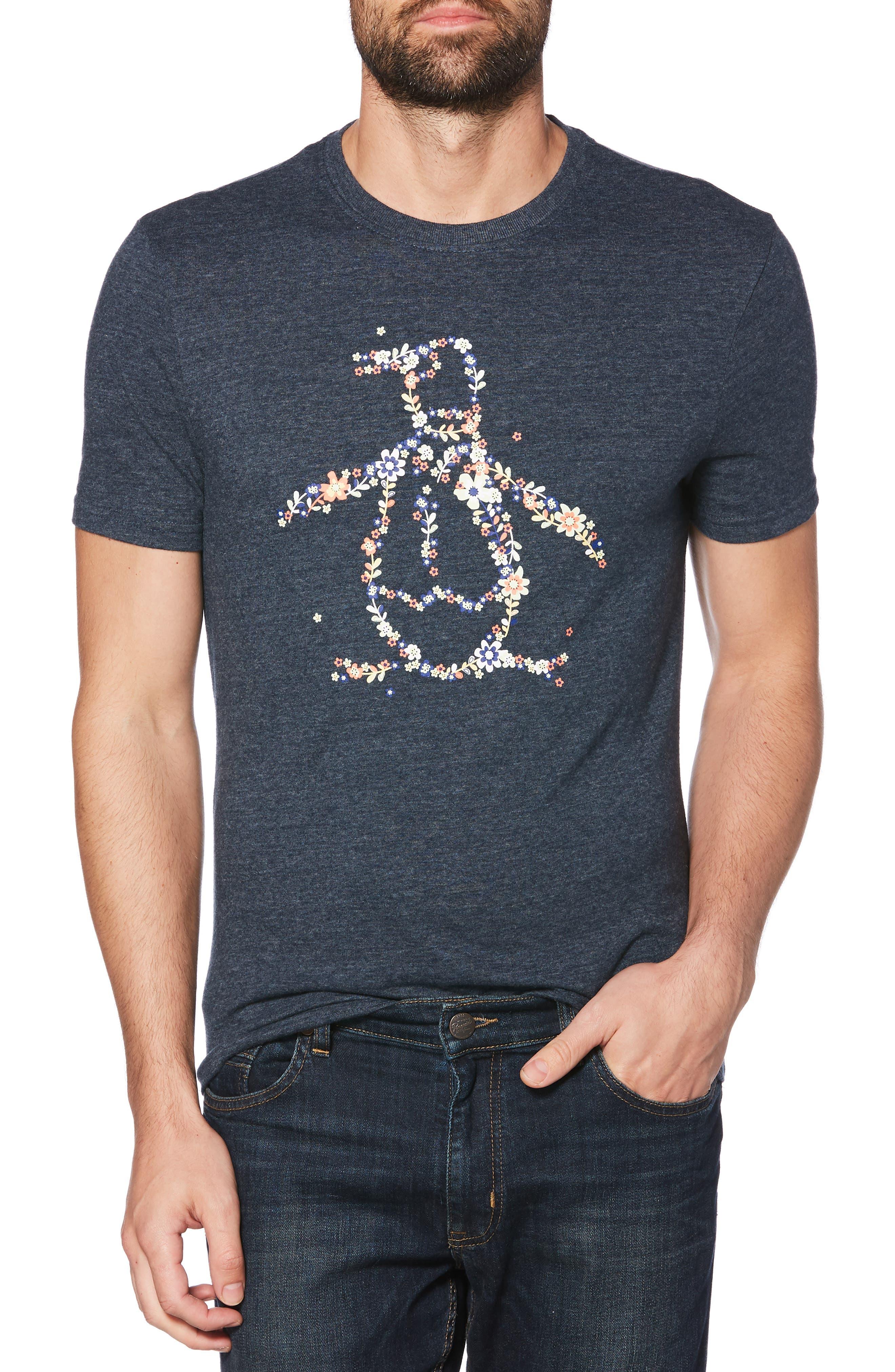 ORIGINAL PENGUIN, Floral Fields Pete T-Shirt, Main thumbnail 1, color, 413
