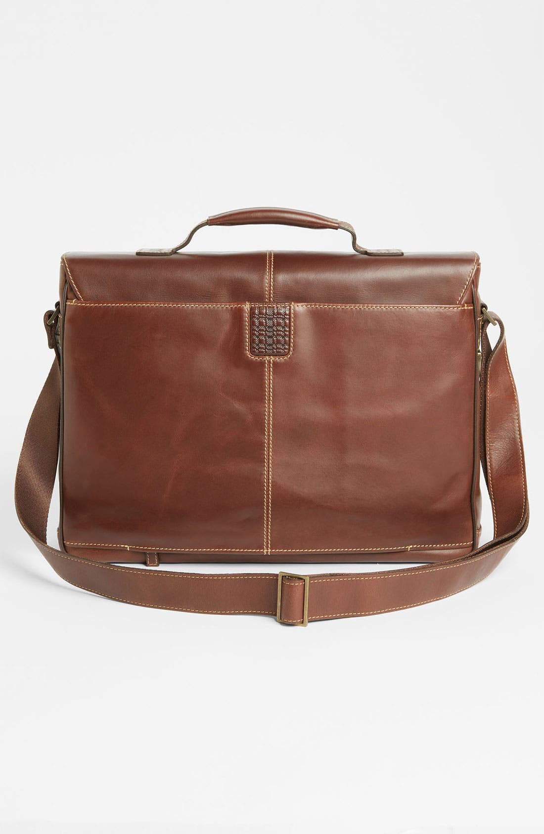 BOCONI, 'Bryant' Leather Briefcase, Alternate thumbnail 2, color, ANTIQUE MAHOGANY