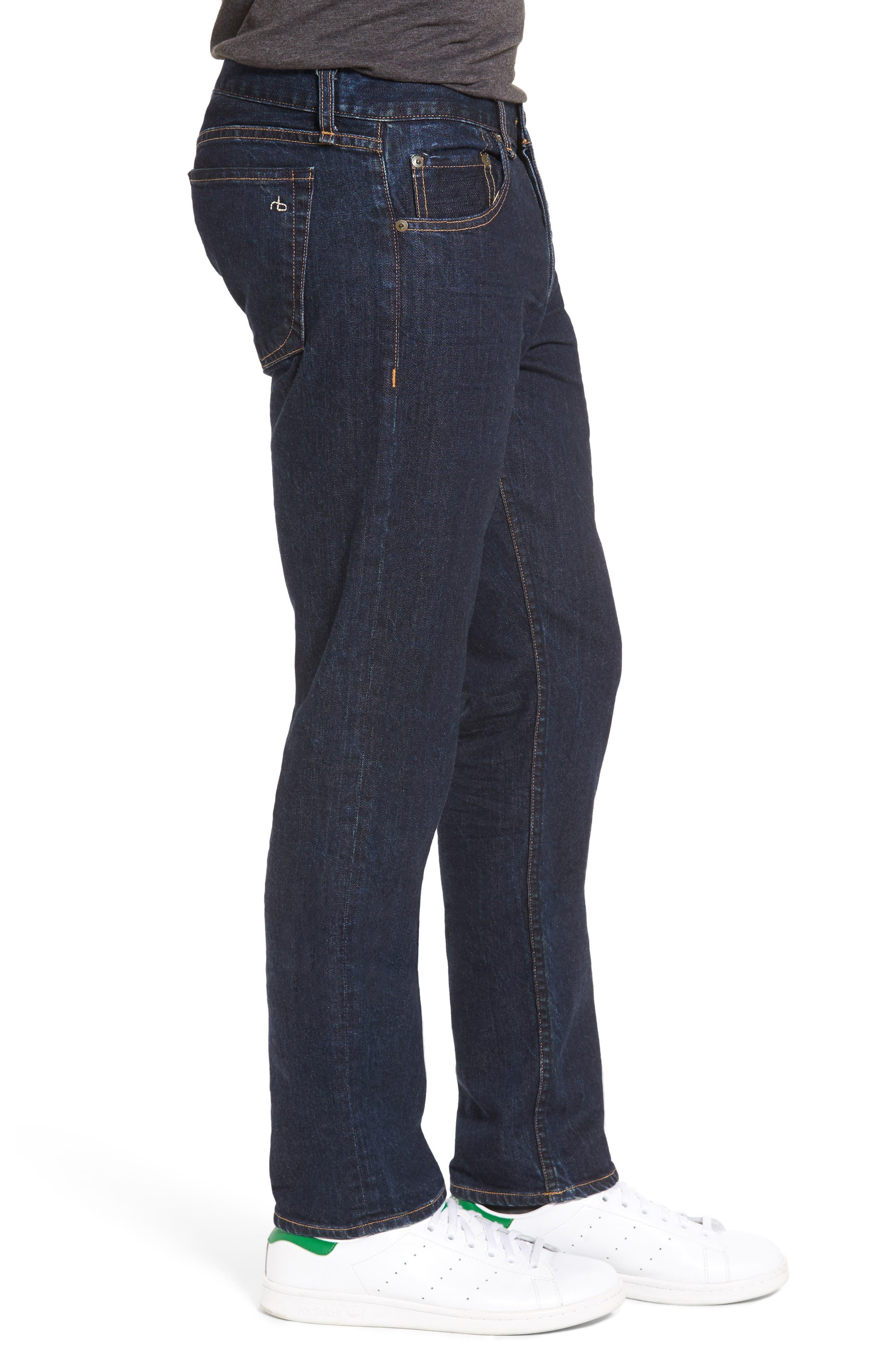 RAG & BONE, Standard Issue Fit 3 Slim Straight Leg Jeans, Alternate thumbnail 4, color, HERITAGE