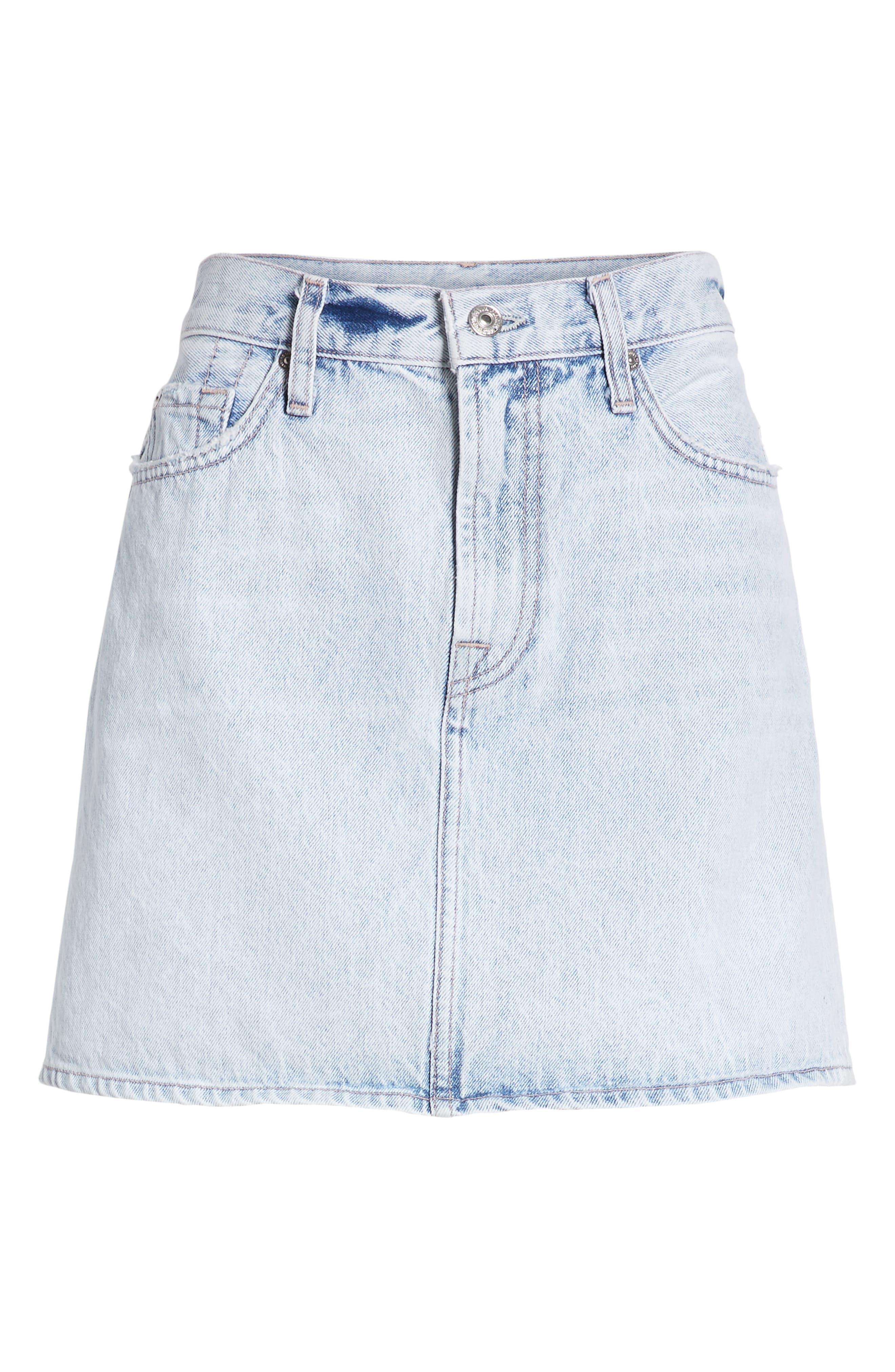 7 FOR ALL MANKIND<SUP>®</SUP>, Miniskirt, Alternate thumbnail 7, color, CLOUD BLUE