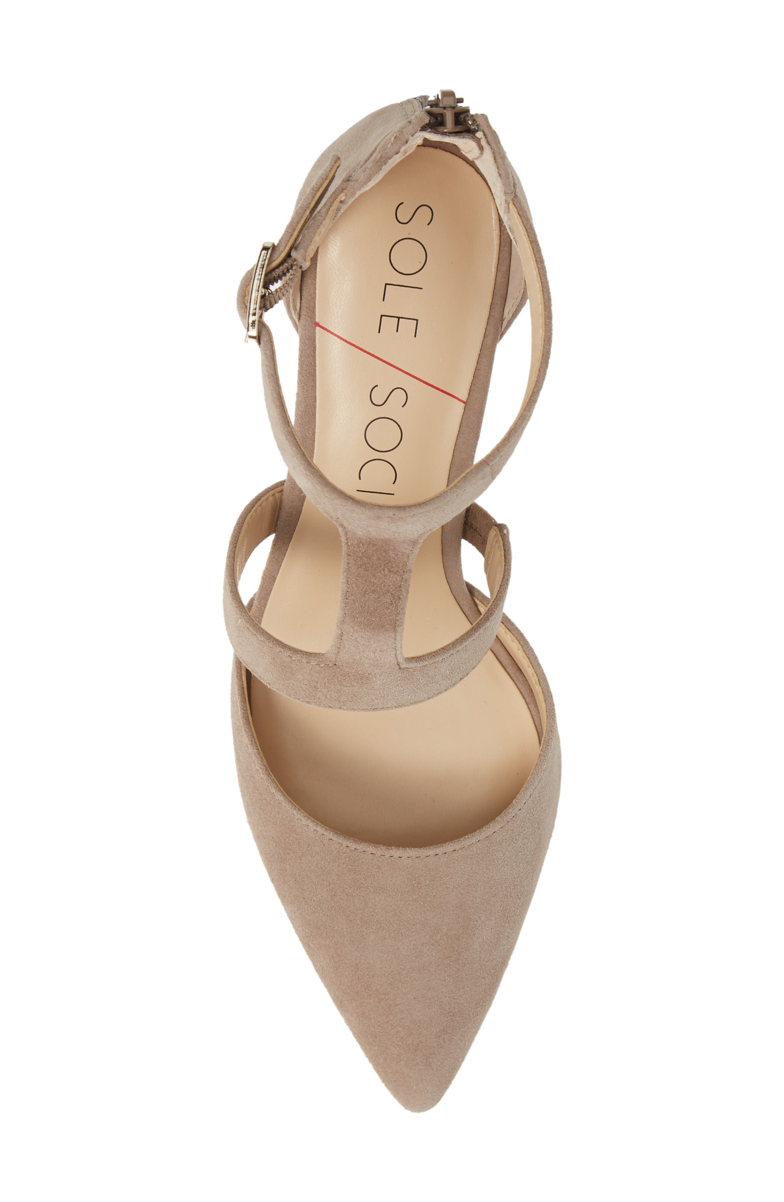 SOLE SOCIETY, Edelyn Pump, Alternate thumbnail 5, color, FALL TAUPE SUEDE