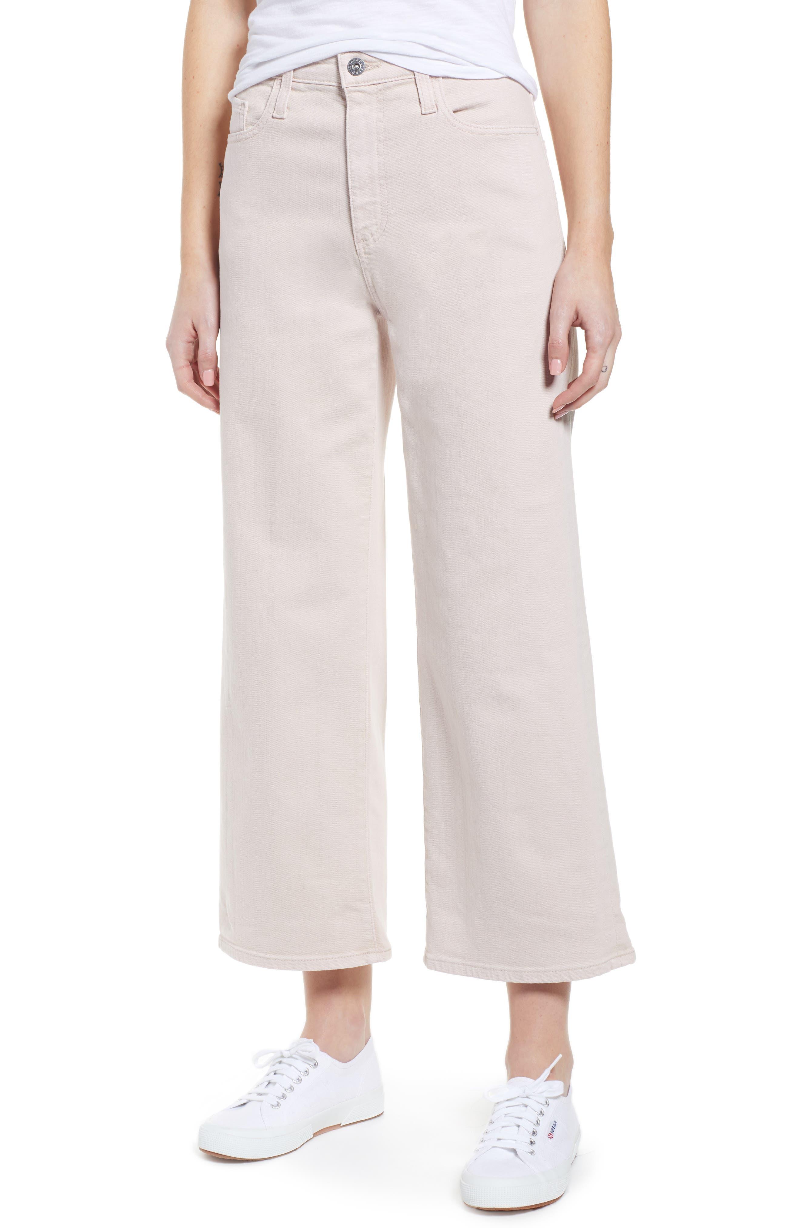 AG, Etta High Waist Crop Wide Leg Jeans, Main thumbnail 1, color, SULFUR PEAKED PINK