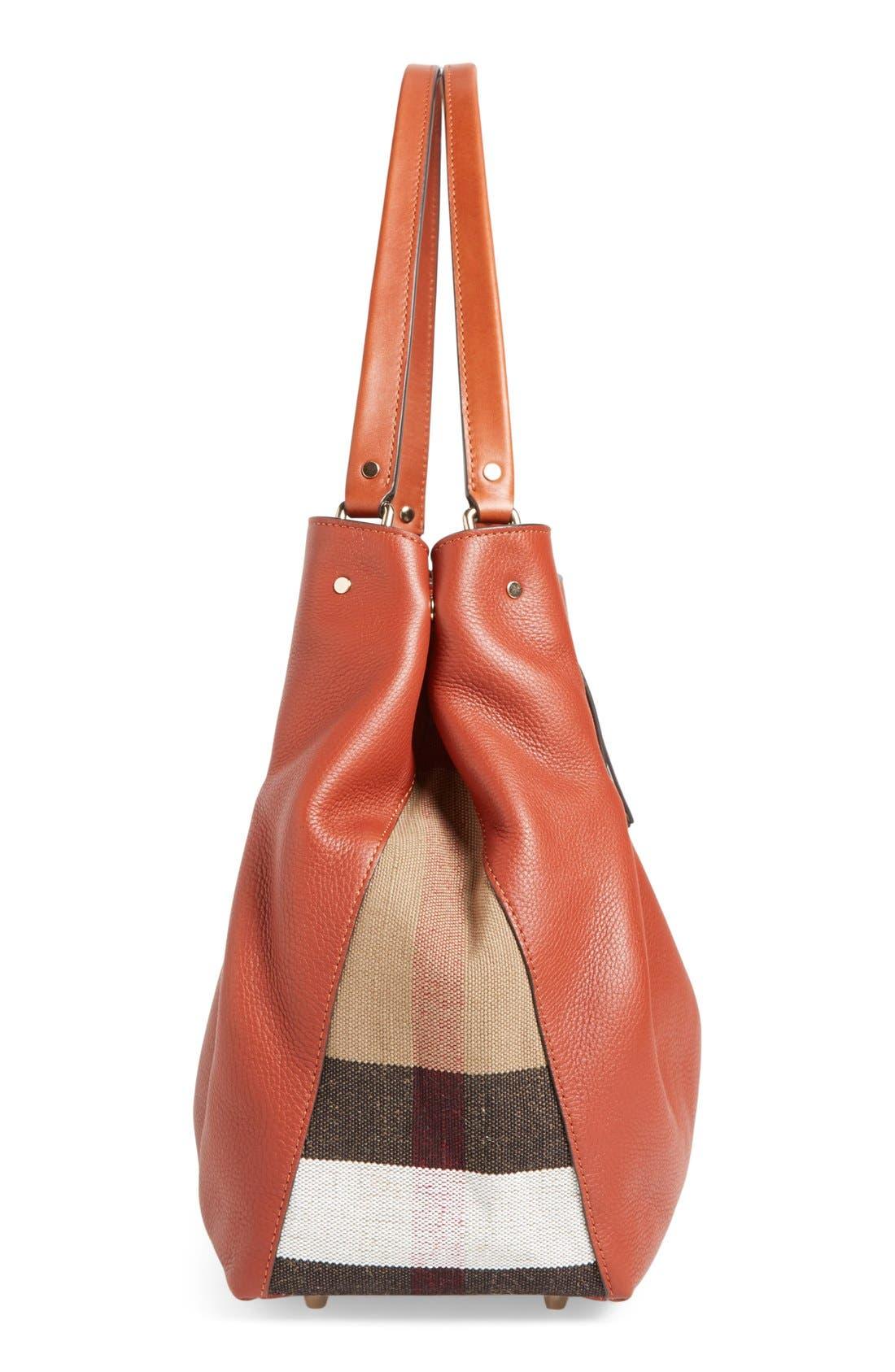 BURBERRY, 'Medium Maidstone' Leather Tote, Alternate thumbnail 6, color, 200