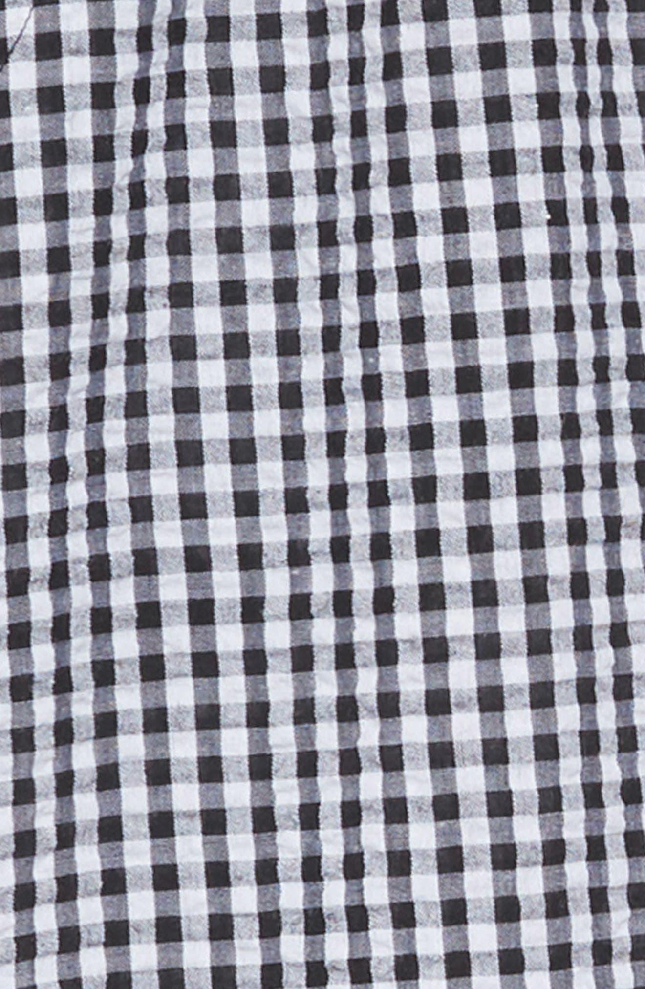 TUCKER + TATE, Boardwalk Smocked Gingham Jumpsuit, Alternate thumbnail 2, color, BLACK- WHITE GINGHAM