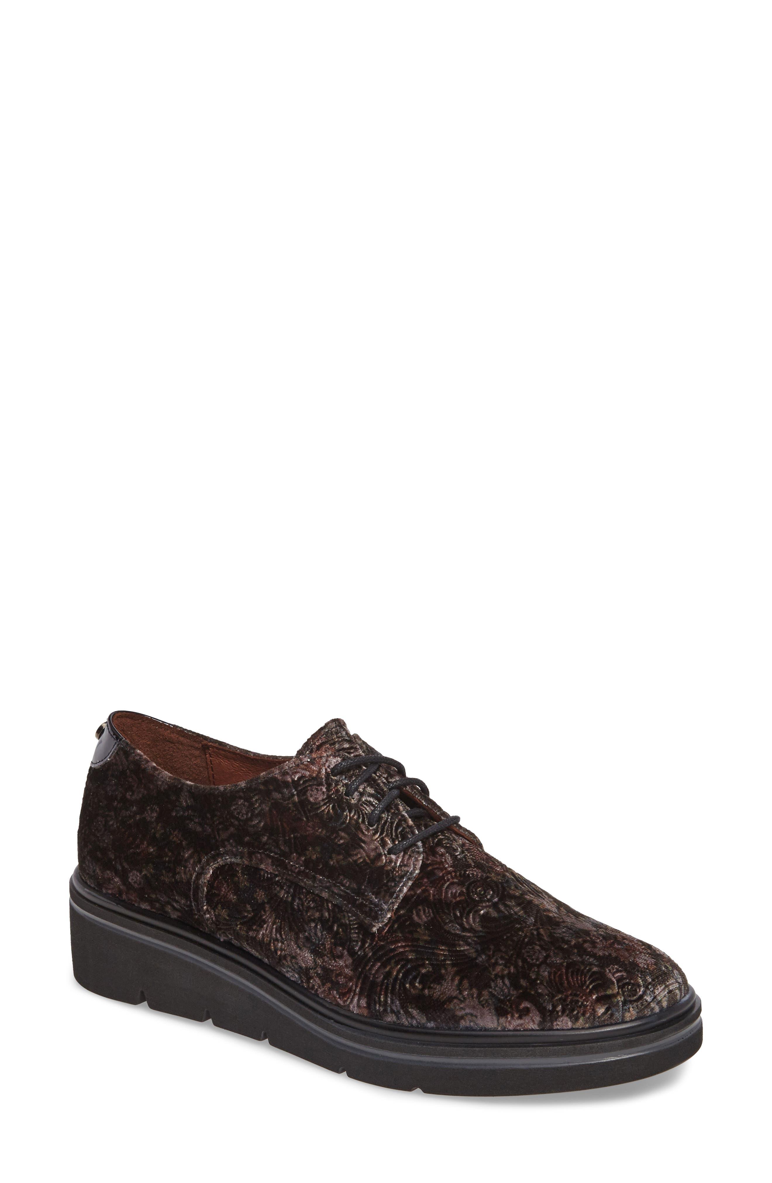 HISPANITAS, Richelle Oxford Sneaker, Main thumbnail 1, color, GREY FABRIC