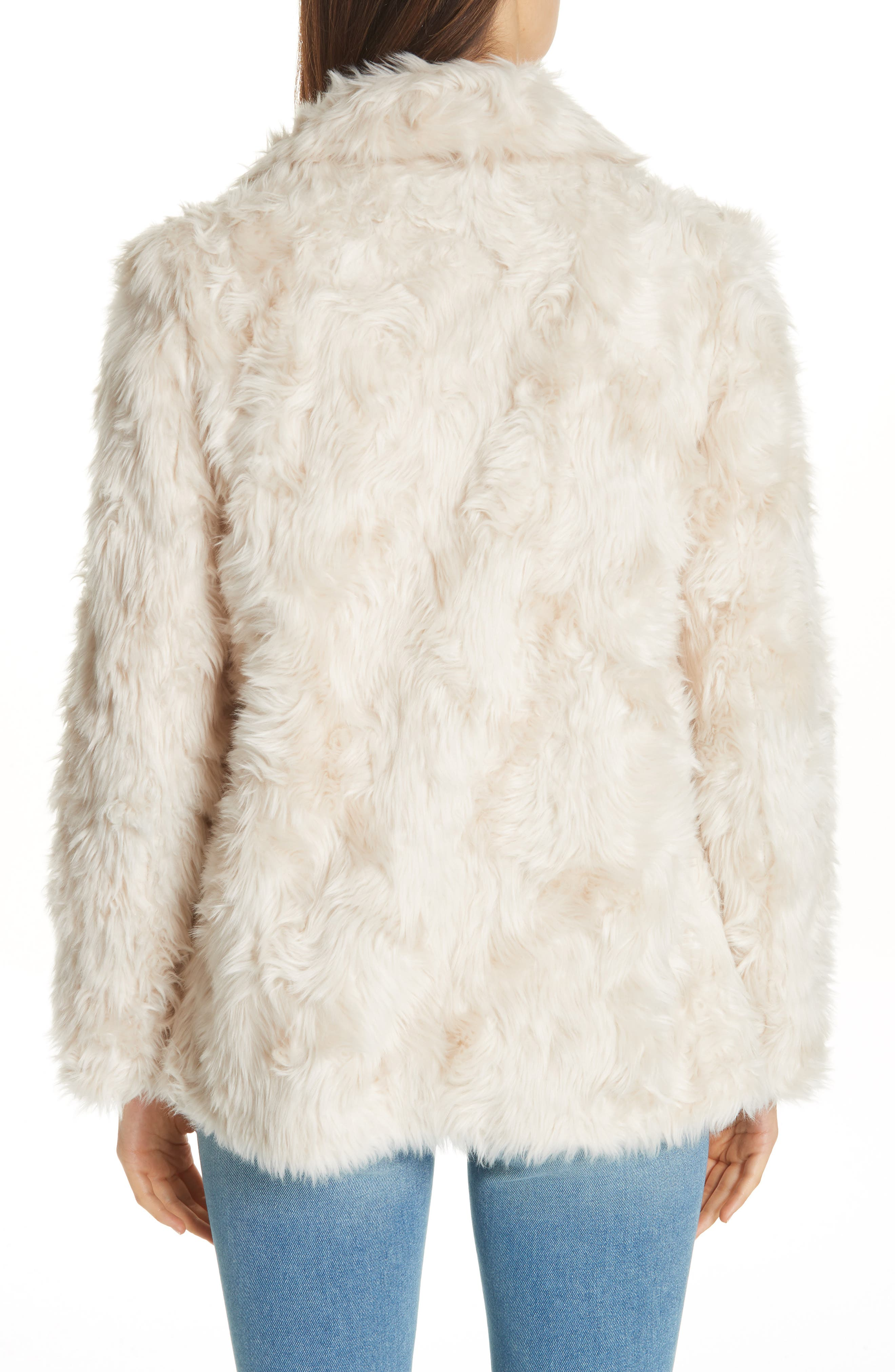 THEORY, Clairene Faux Fur Jacket, Alternate thumbnail 2, color, 907