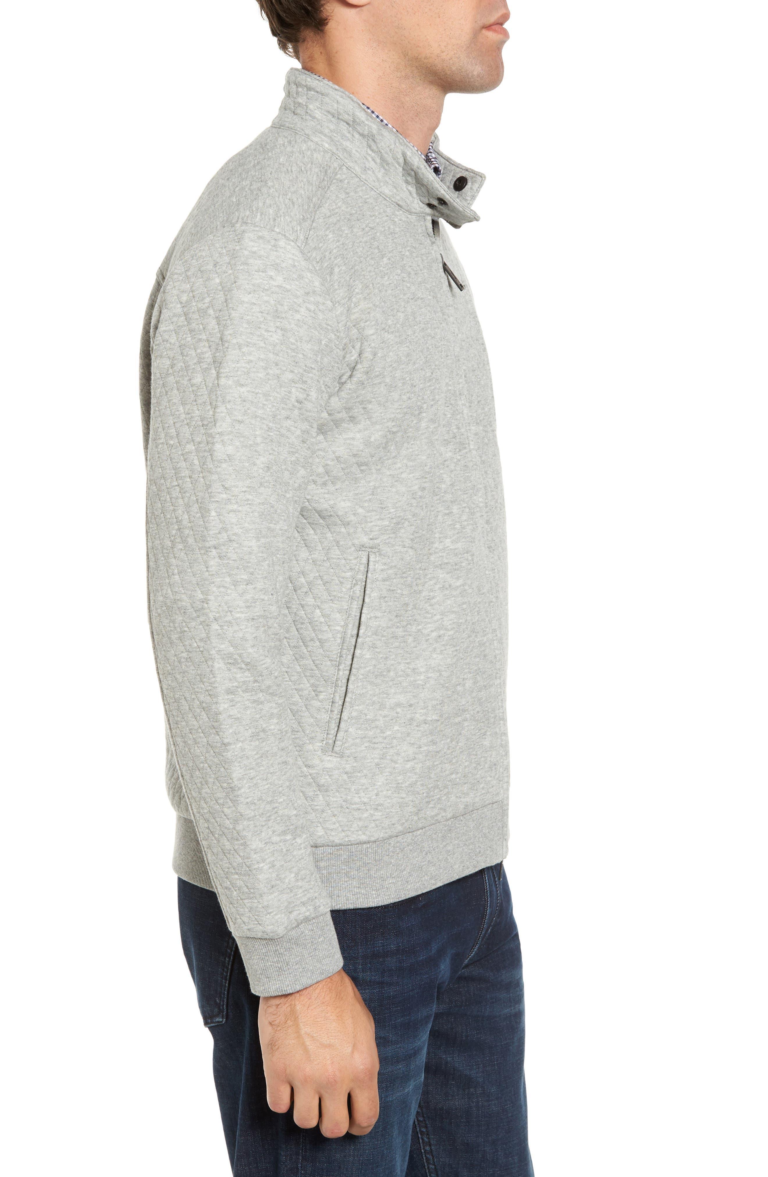 RODD & GUNN, Skipjack Pass Quilted Fleece Jacket, Alternate thumbnail 3, color, ASH