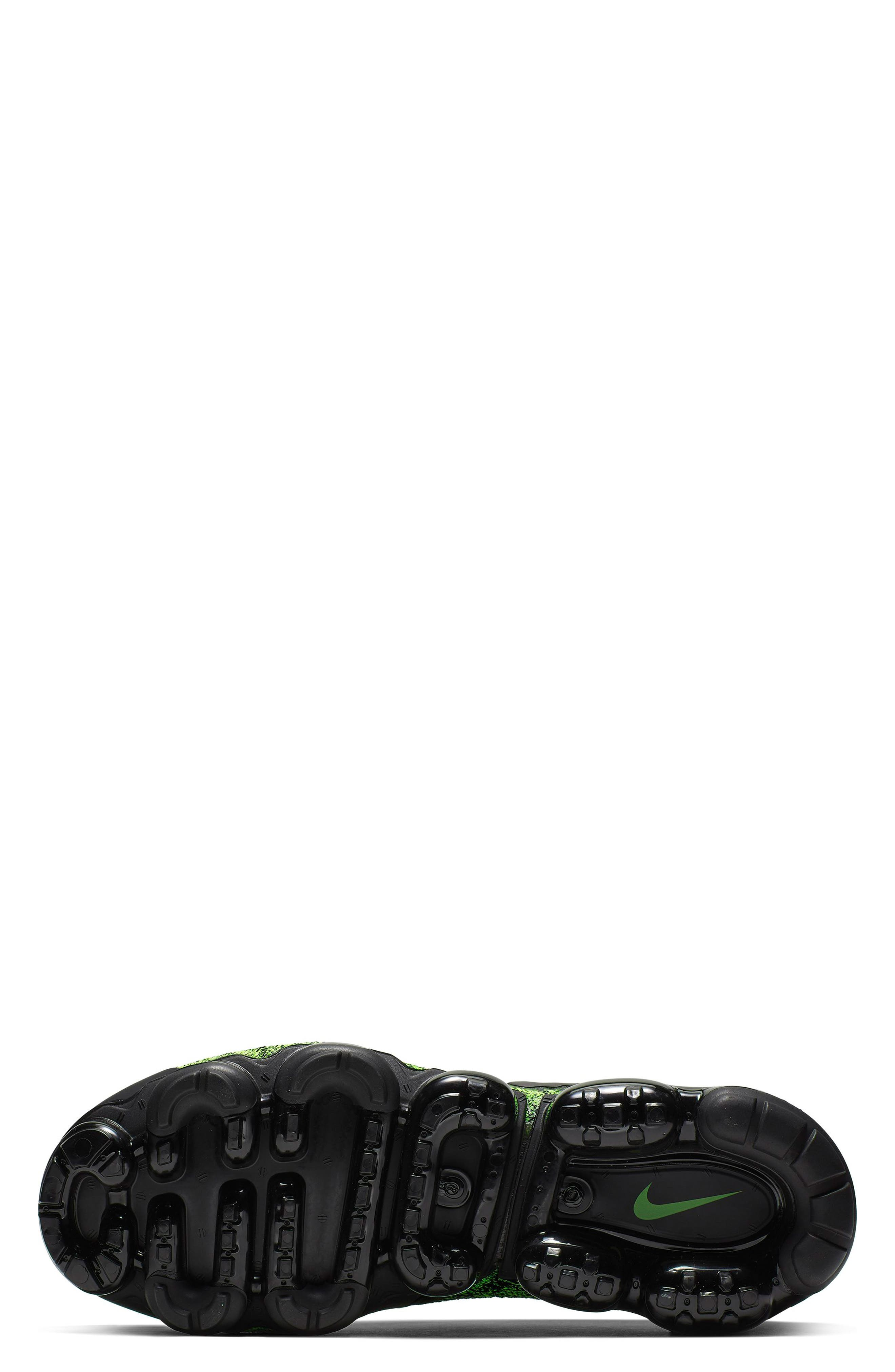 NIKE, Air VaporMax Flyknit 2 Running Shoe, Alternate thumbnail 5, color, VOLT/ BLACK/ VOLT
