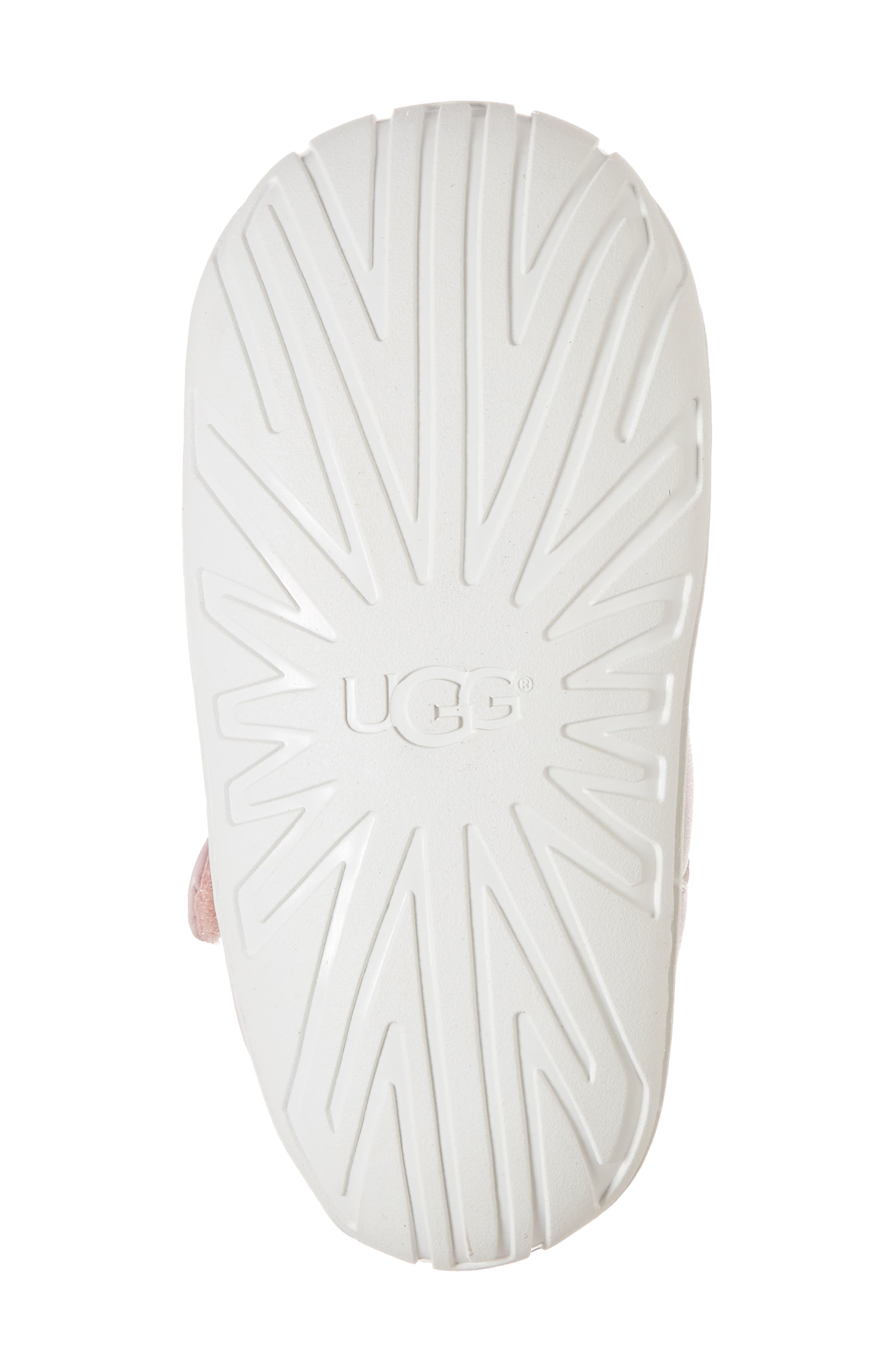 UGG<SUP>®</SUP>, Santore Glitter Sandal, Alternate thumbnail 6, color, SEASHELL PINK