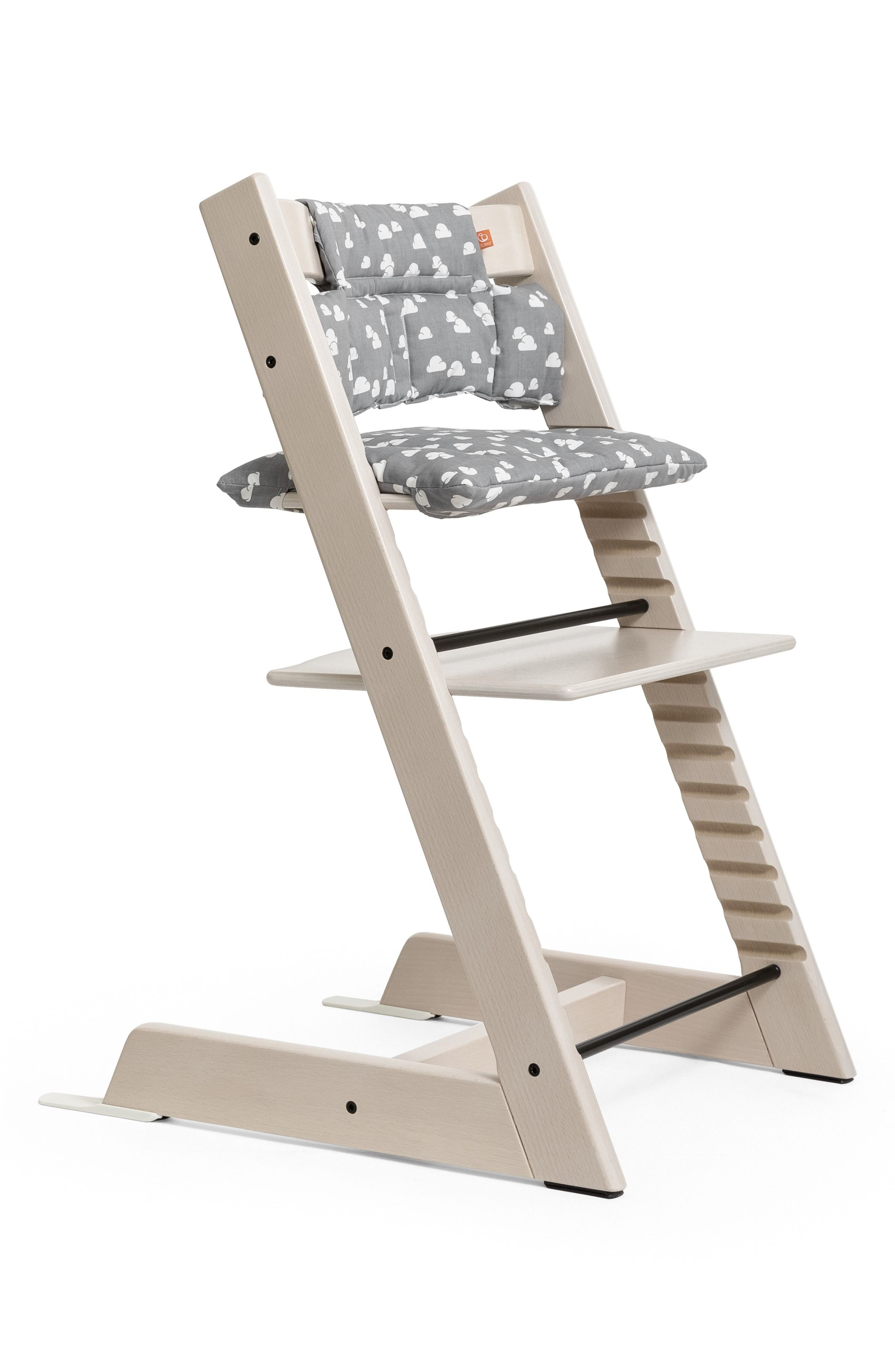 STOKKE,  Seat Cushion for Tripp Trapp<sup>®</sup> Chair, Alternate thumbnail 2, color, GREY CLOUDS