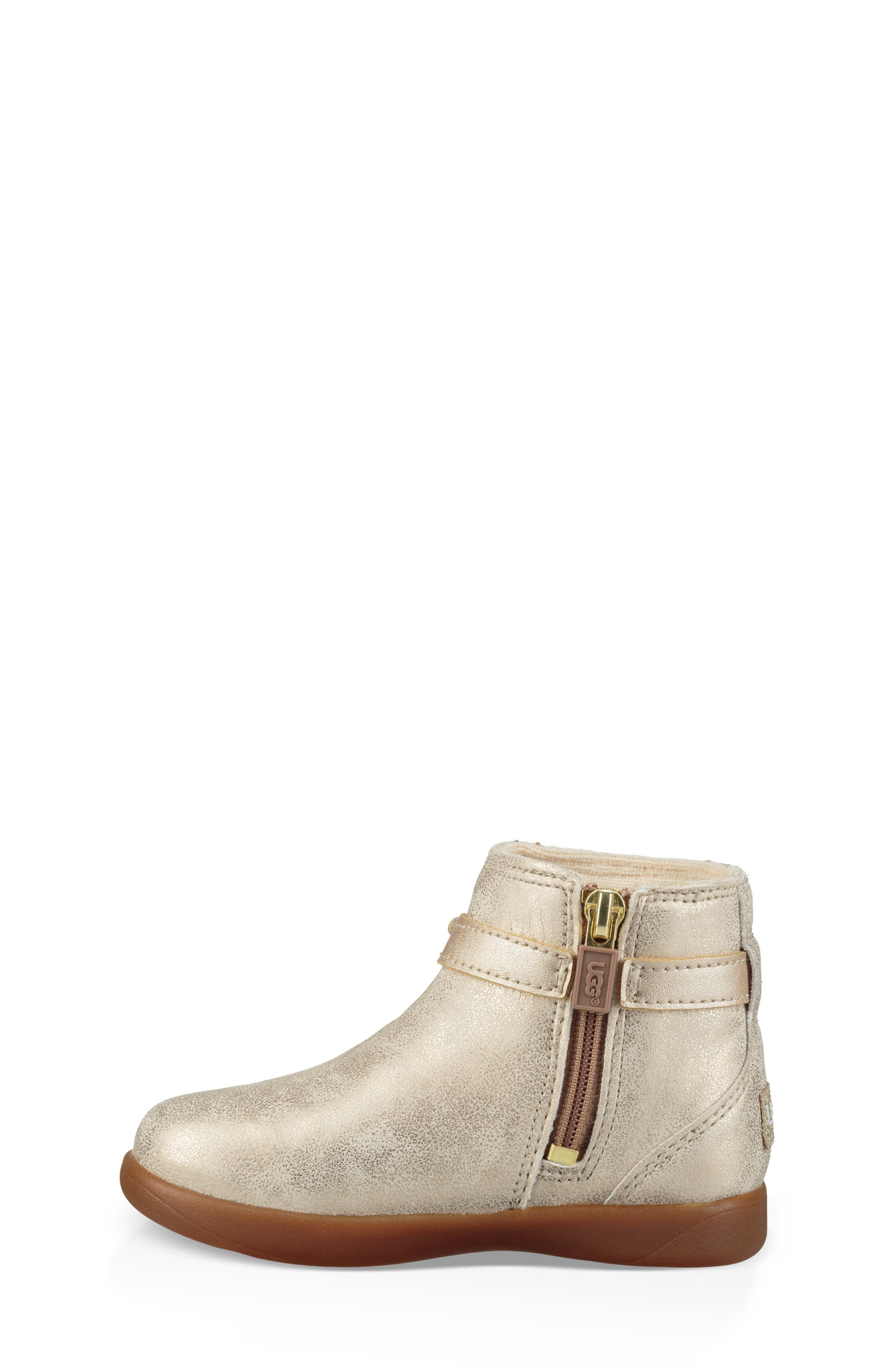 UGG<SUP>®</SUP>, Libbie Metallic Boot, Alternate thumbnail 6, color, GOLD