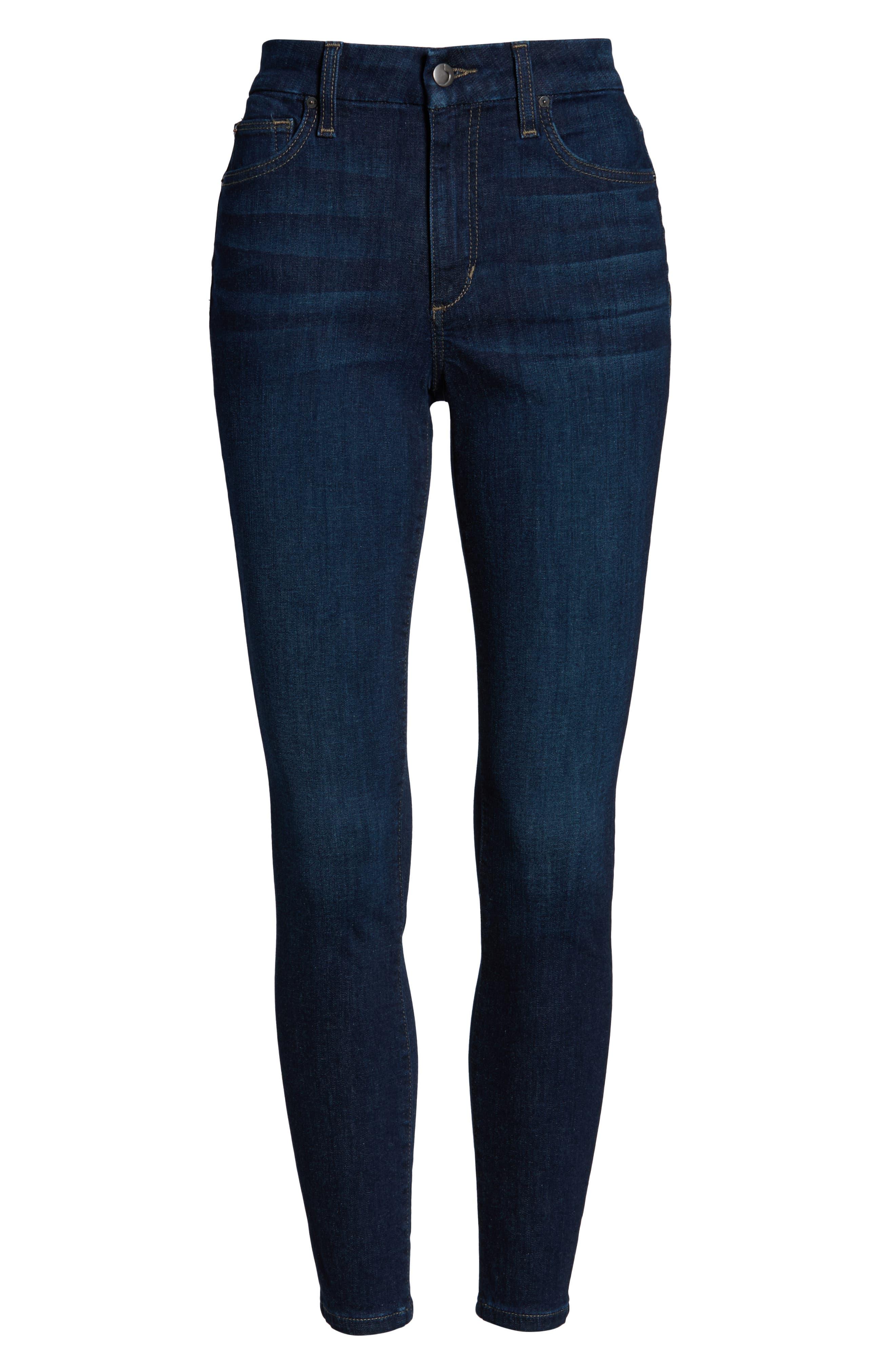JOE'S, Honey High Waist Ankle Skinny Jeans, Alternate thumbnail 5, color, BRITT